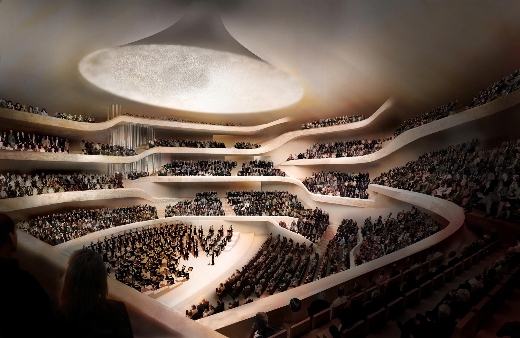 Spektakulär: Der grosse Saal der Elbphilharmonie