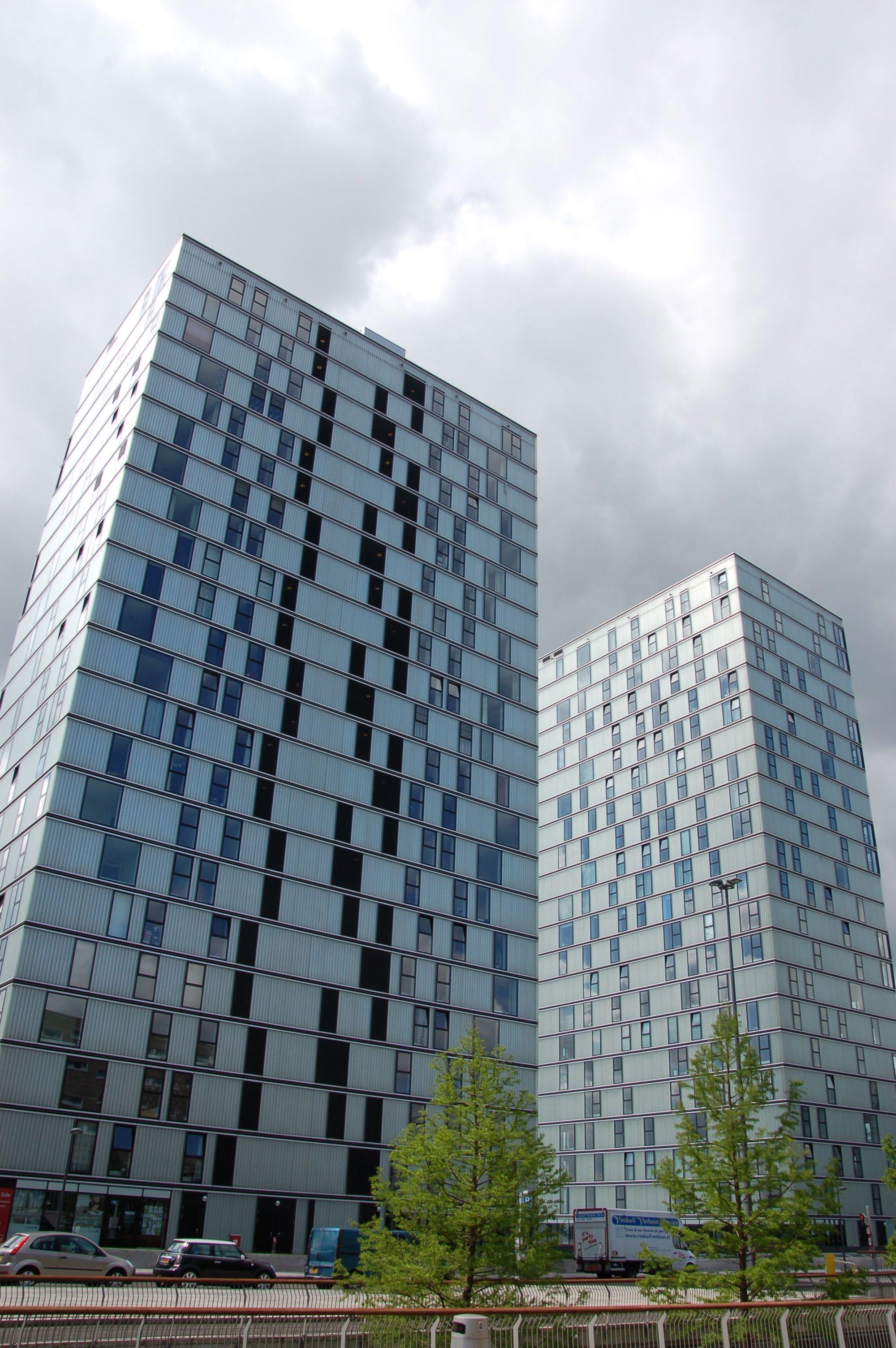 Flexibler Grundriss: Die Hochhäuser von F. J. van Dongen. (Bild: Ralf Johnen)