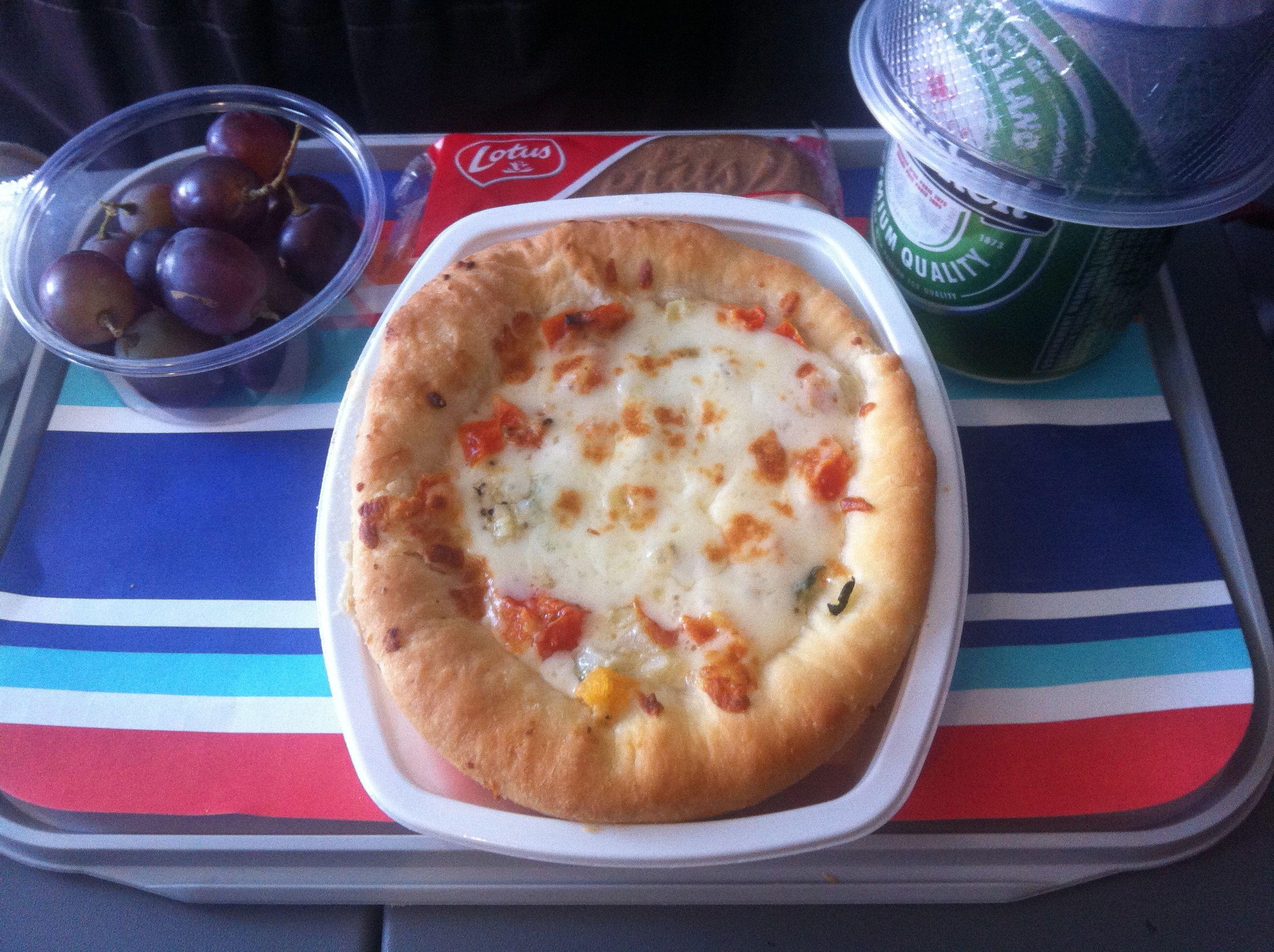 Ein Teigfladen, der vage an eine Pizza erinnert