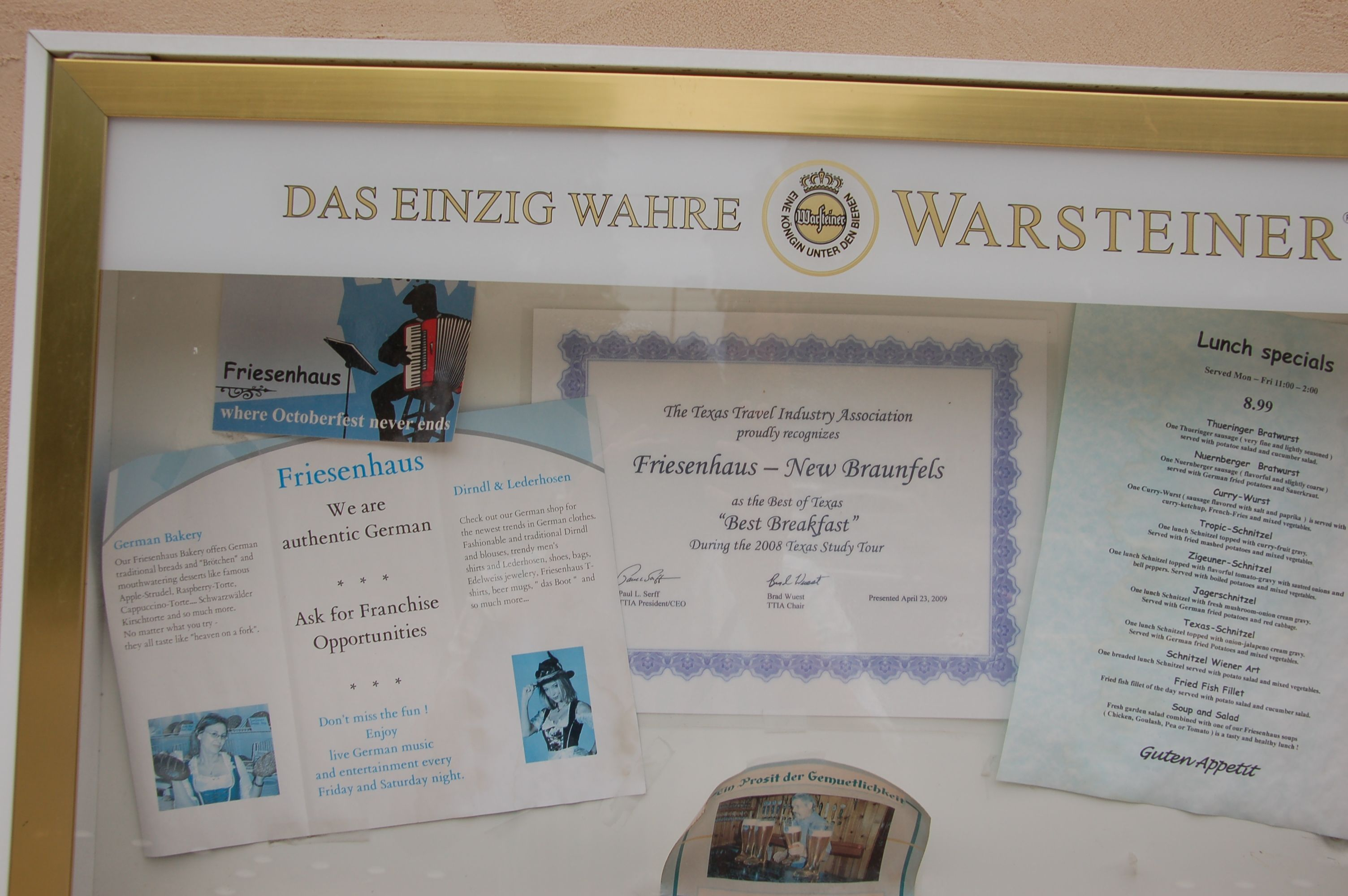 Authentic German? Ask for franchise opportunities...