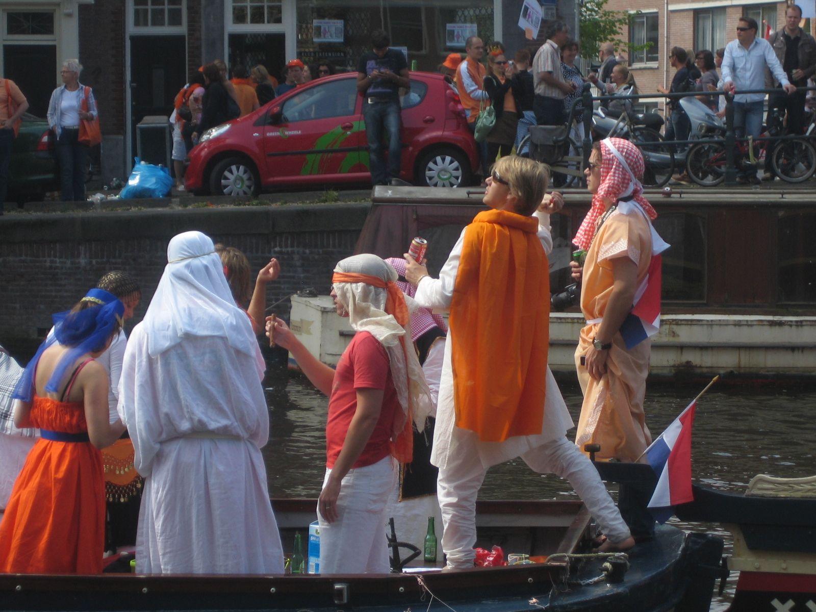 Koningsdag in Amsterdam
