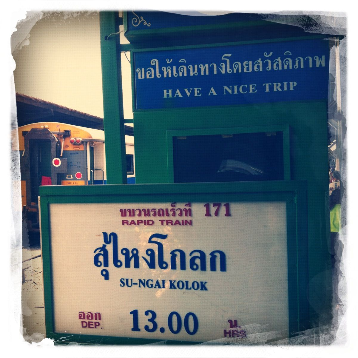 Bahn durch Thailand 20