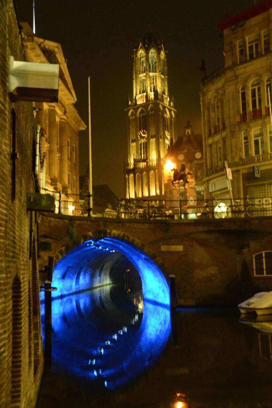 Blue Hour in Utrecht mit dem Trajectum Lumen
