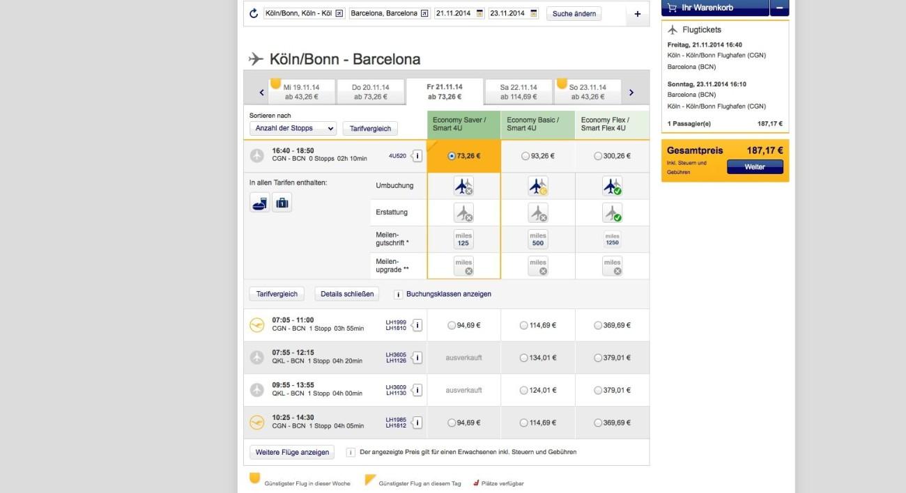 Reguläre Kunden zahlen bei der Lufthansa nicht mal den Preis von Steuern und Gebühren
