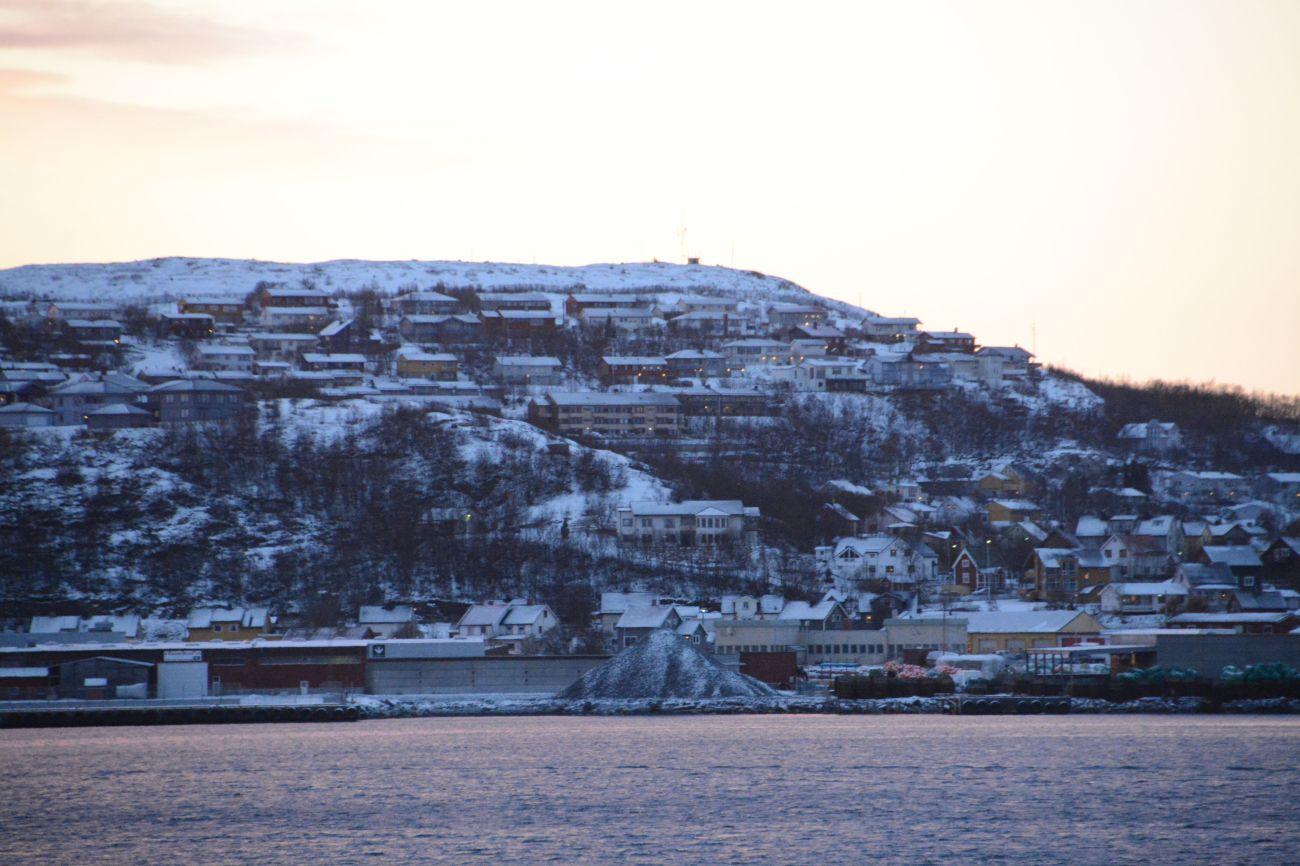Der Hafen von Kirkenes ist Wendepunkt der Hurtigruten