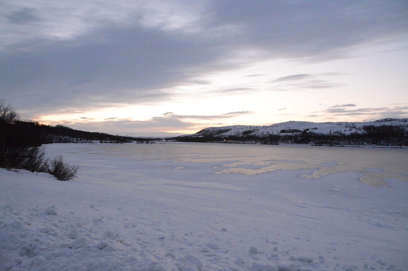 Die letzten Sonnenstrahlen des Jahres in Kirkenes - danach friert alles zu
