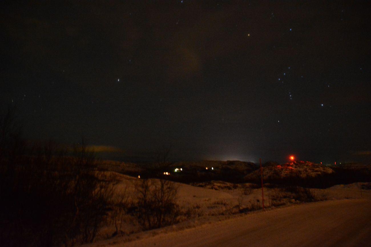 Ein schwacher Trost in Kirkenes: Russisches Licht mit Polarstern