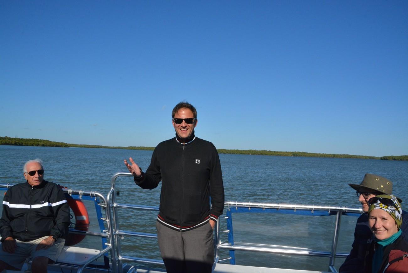 Der Autor bei den Recherchen für die nächste Geschichte, die in den 10 000 Islands spielt