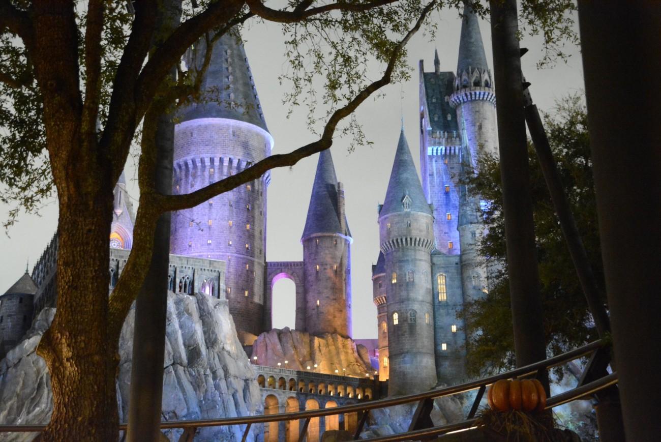Highlight des viertägigen Marathons durch die Vergnügungsparks ist die Ankunft in Hogwarts. Nuff said.