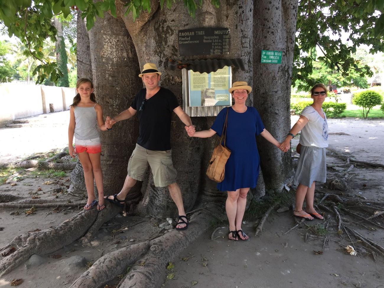 Ein mächtiger Baobab spendet dem Anwesen Schatten