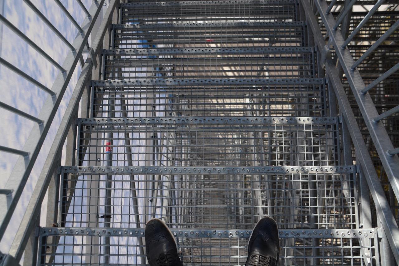 ... nur um oben in knapp 30 Metern Höhe leise Zweifel an der Ingenieurskunst unserer Tage zu artikulieren