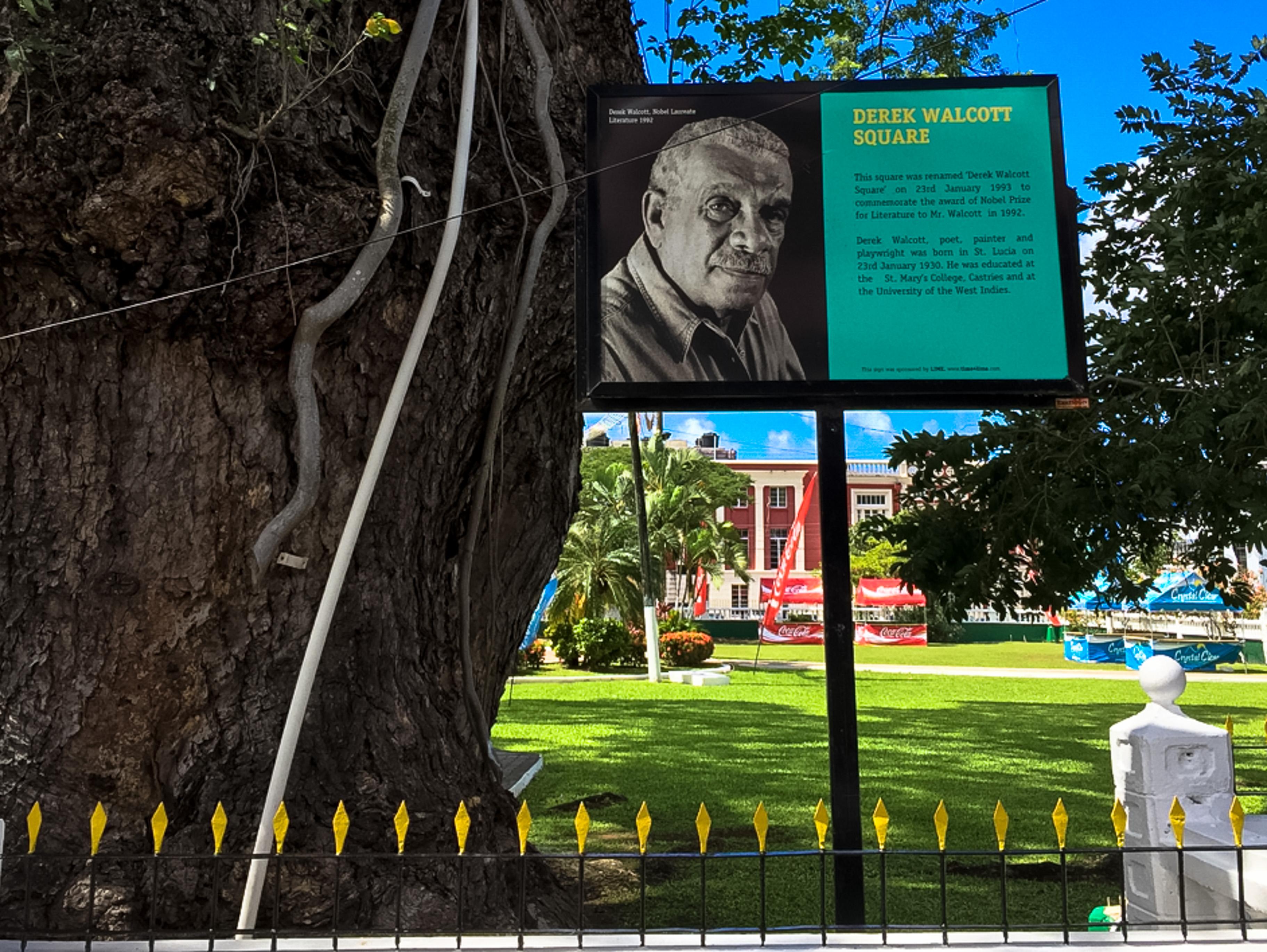 Castries, St. Lucia, Literaturnobelpreisträger Derek Walcott