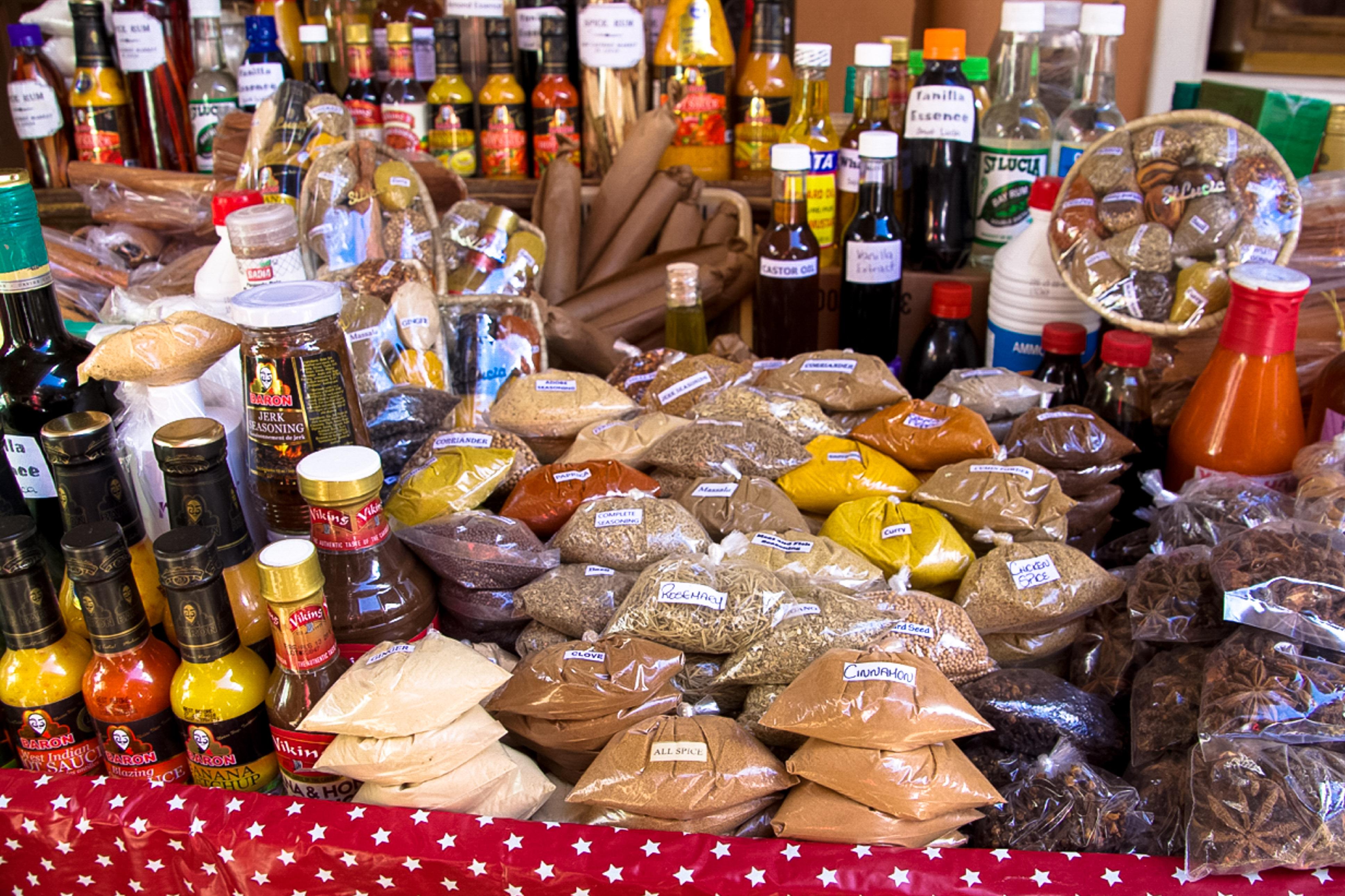 Castries, St. Lucia, Markt