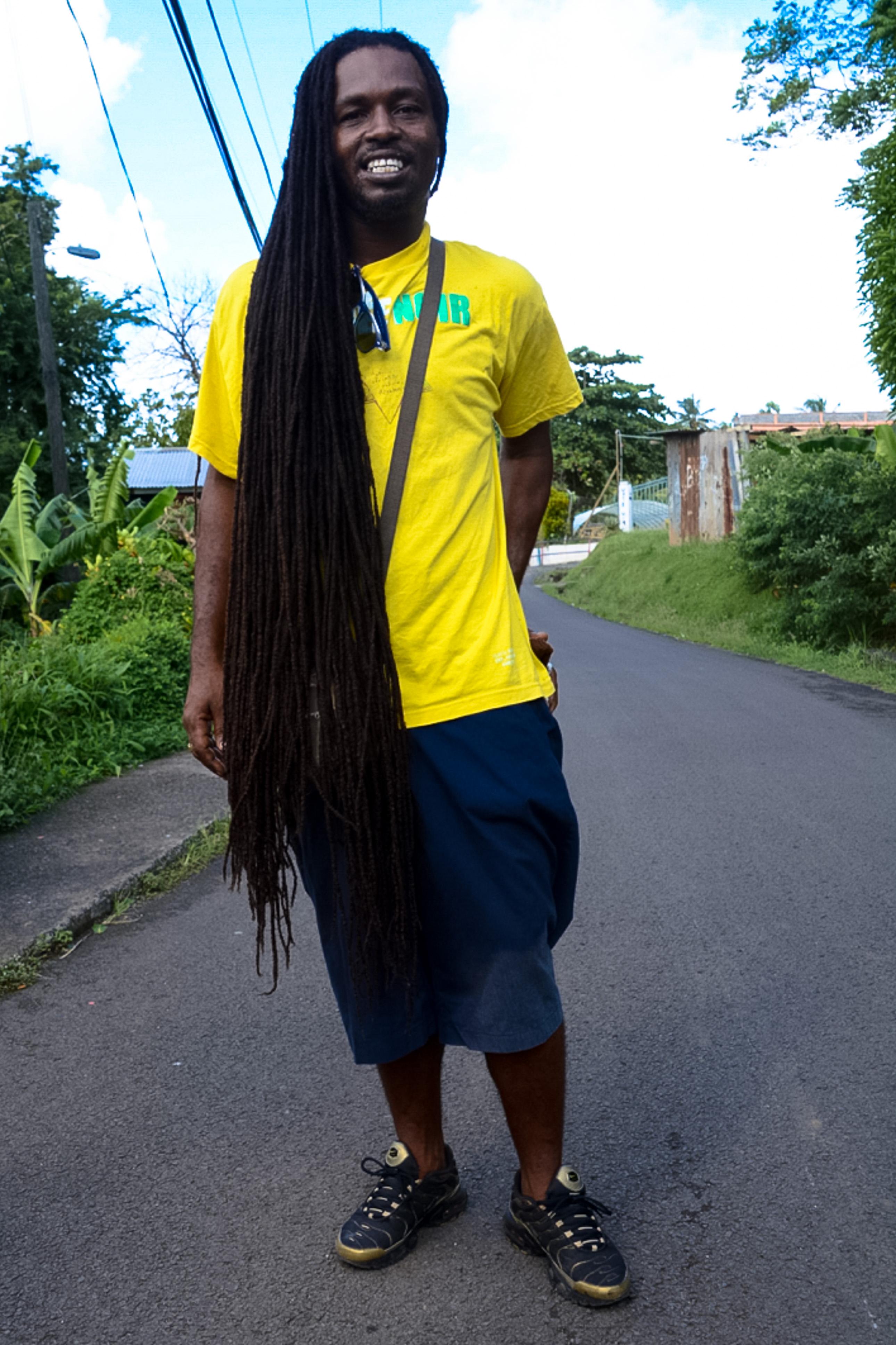 Rastafari Roger auf St. Lucia