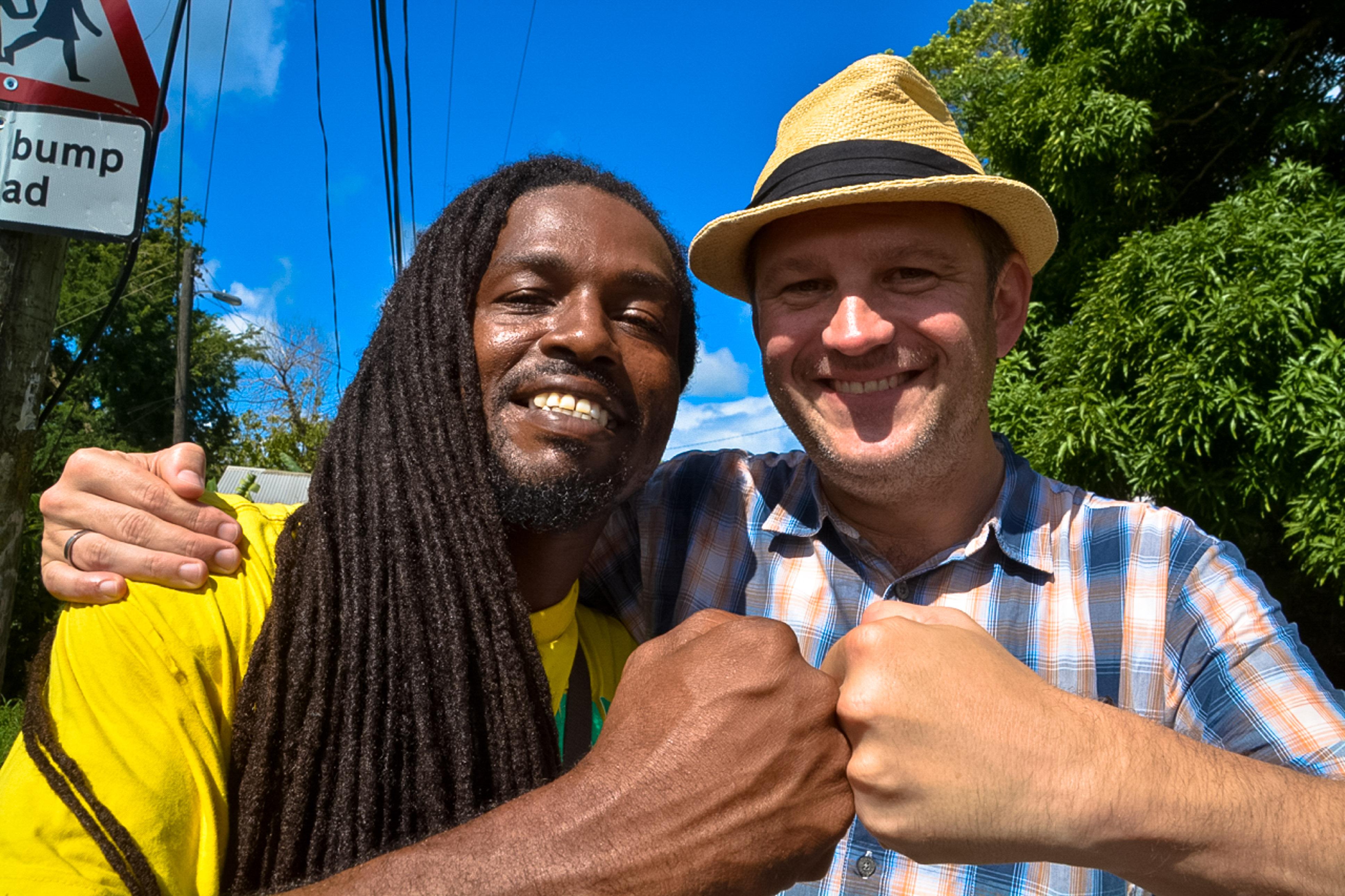 Rastafari Roger auf St. Lucia, beeindruckende Haarpracht