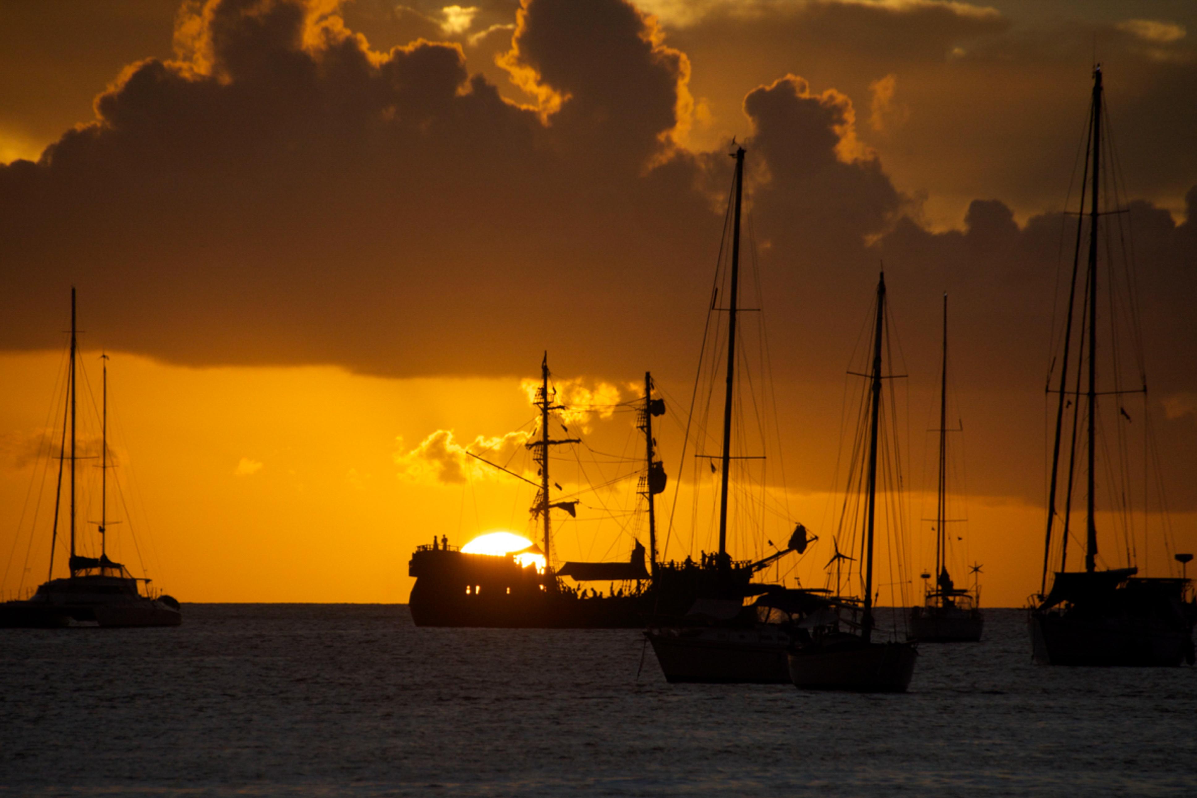Sonnenuntergang, St. Lucia