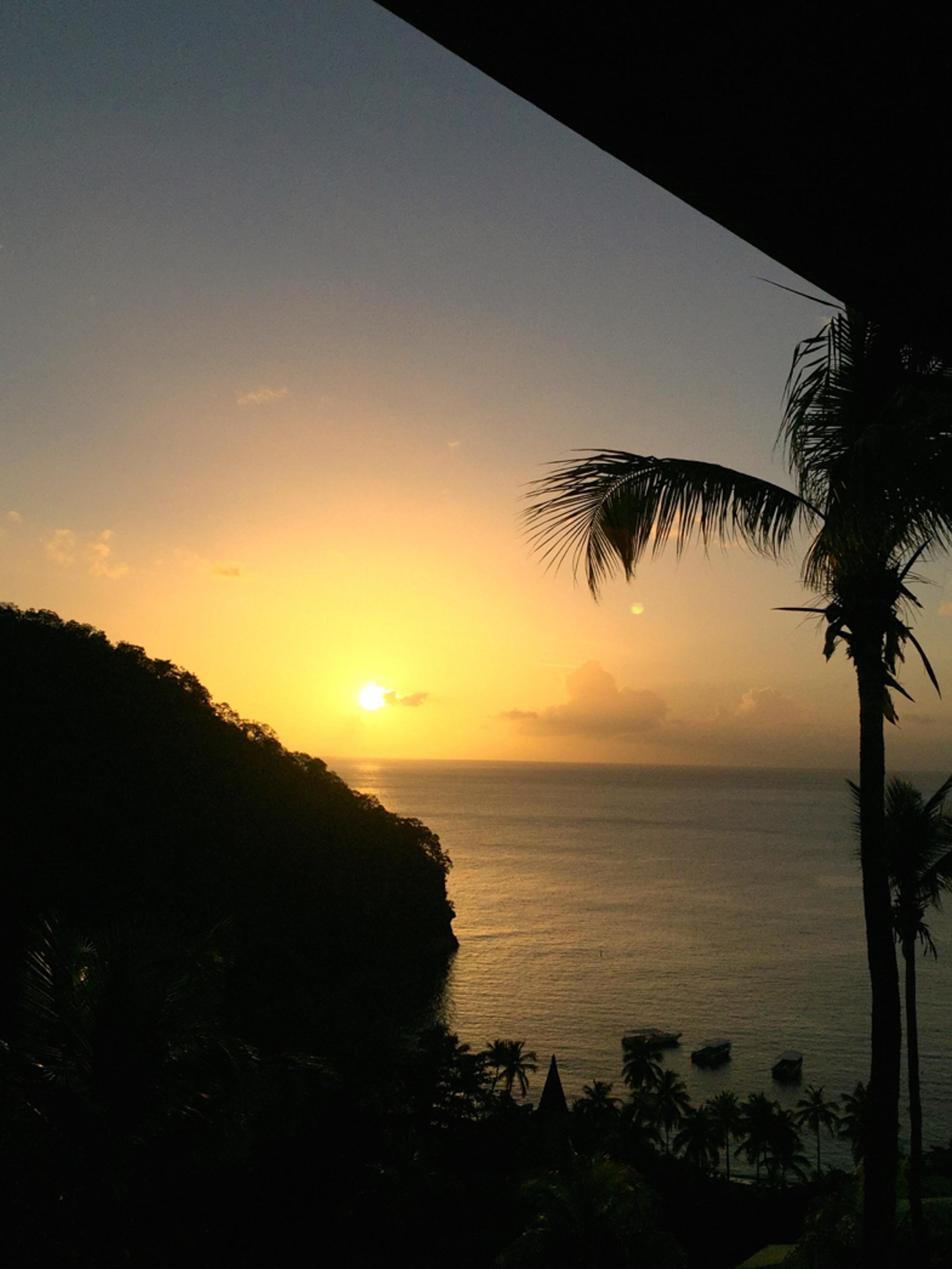 Sonnenuntergang auf St. Lucia