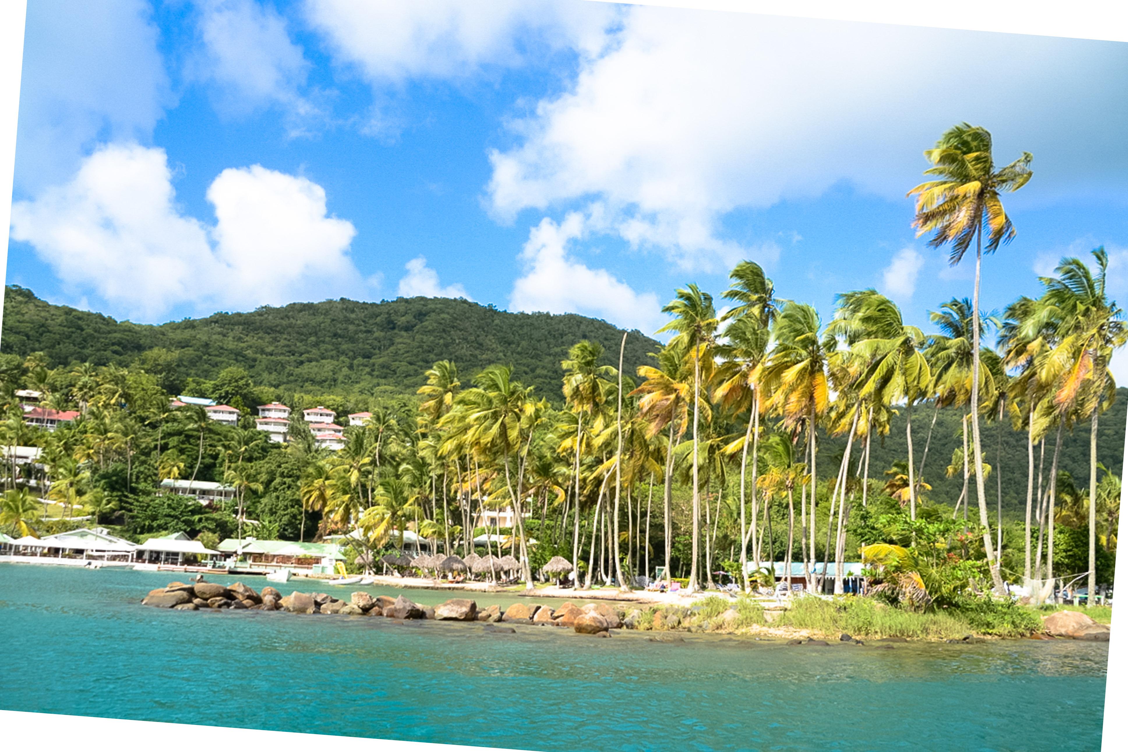 Marigot Bay, St. Lucia, Mietwagen auf St. Lucia