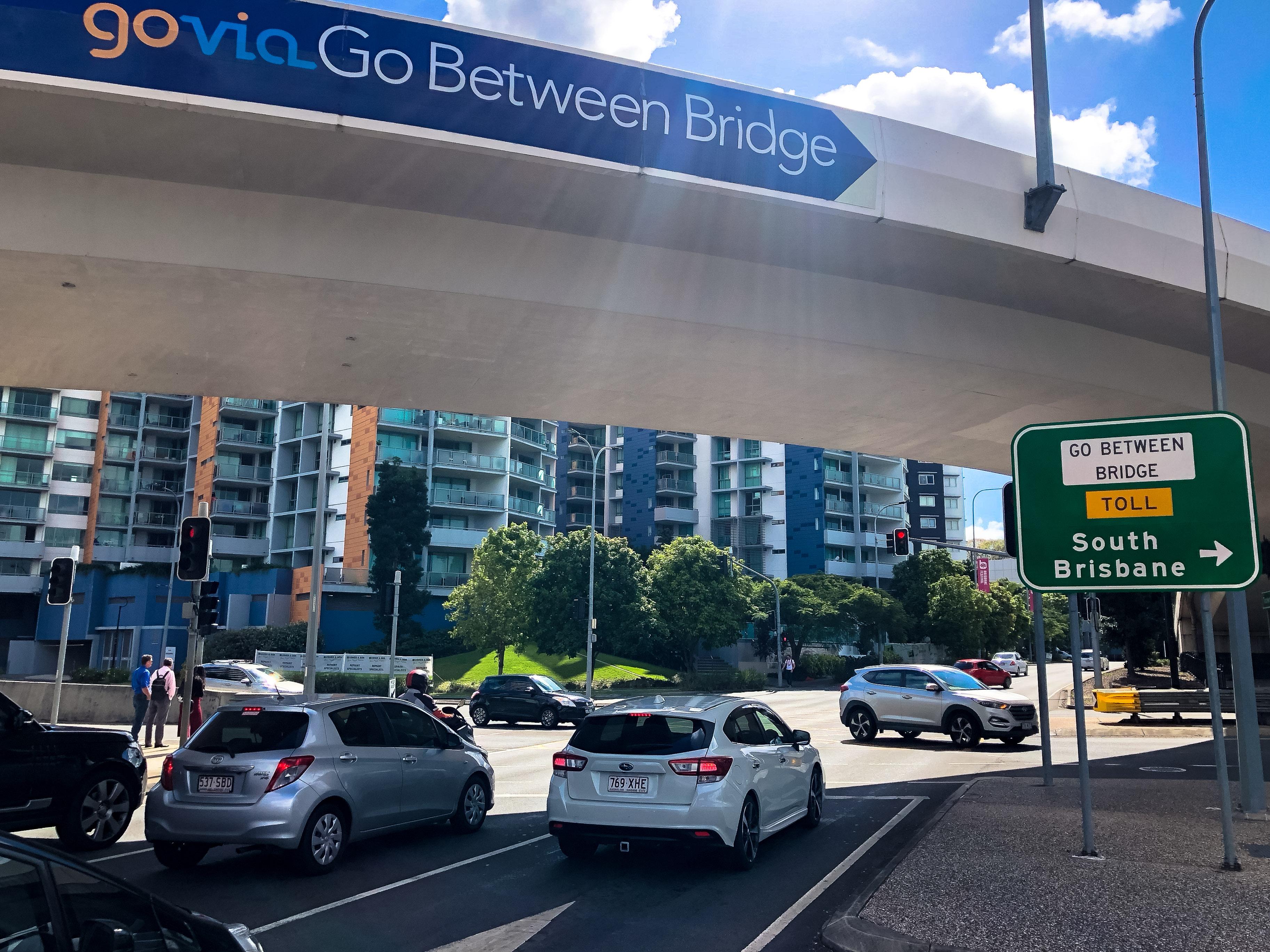 Brisbane, Go-Betweens, Go Between Bridge, Stopover in Brisbane