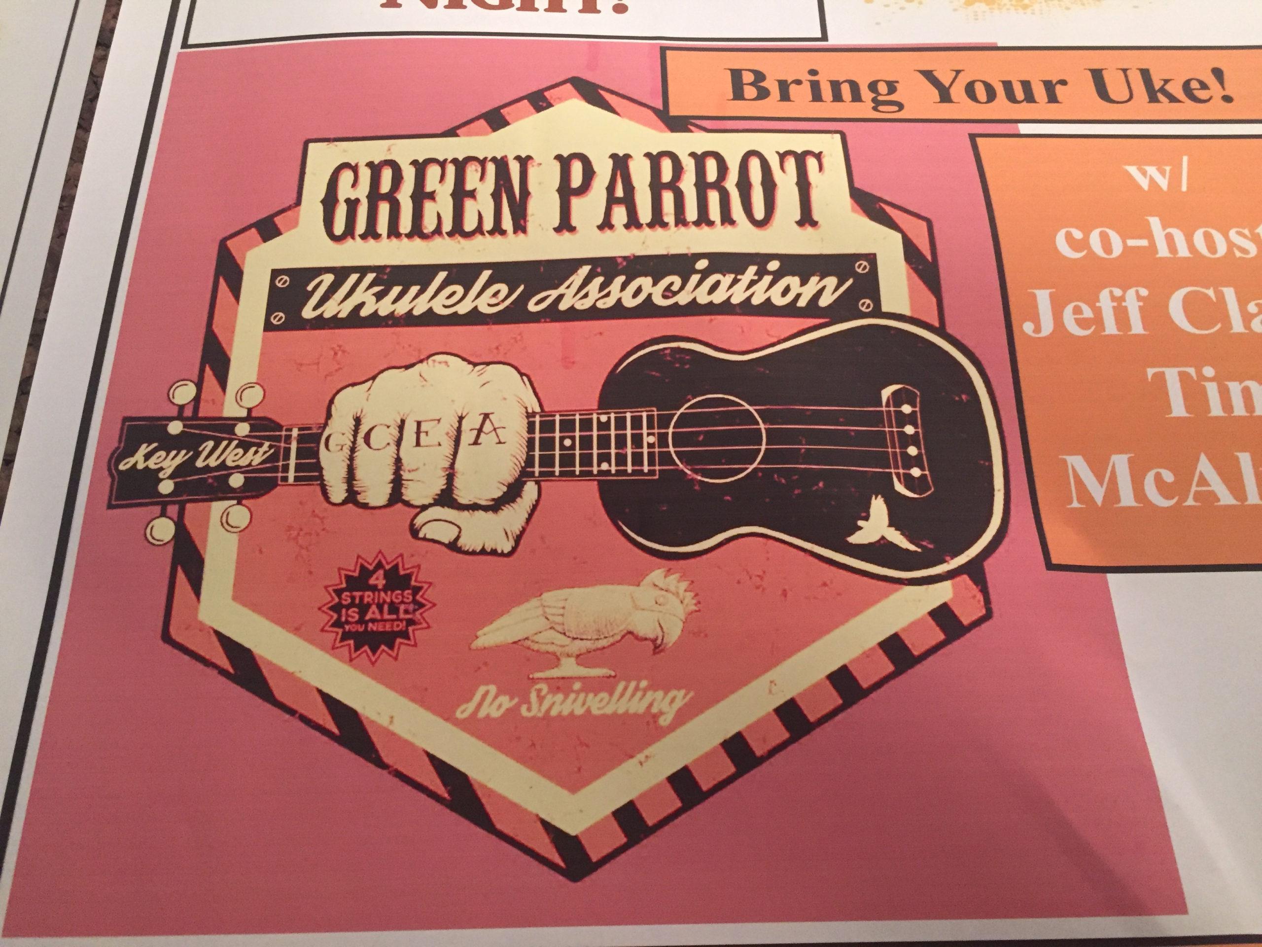 The Green Parrot auf Key West ist Austragungsstätte eines populären Ukelele-Wettbewerbs