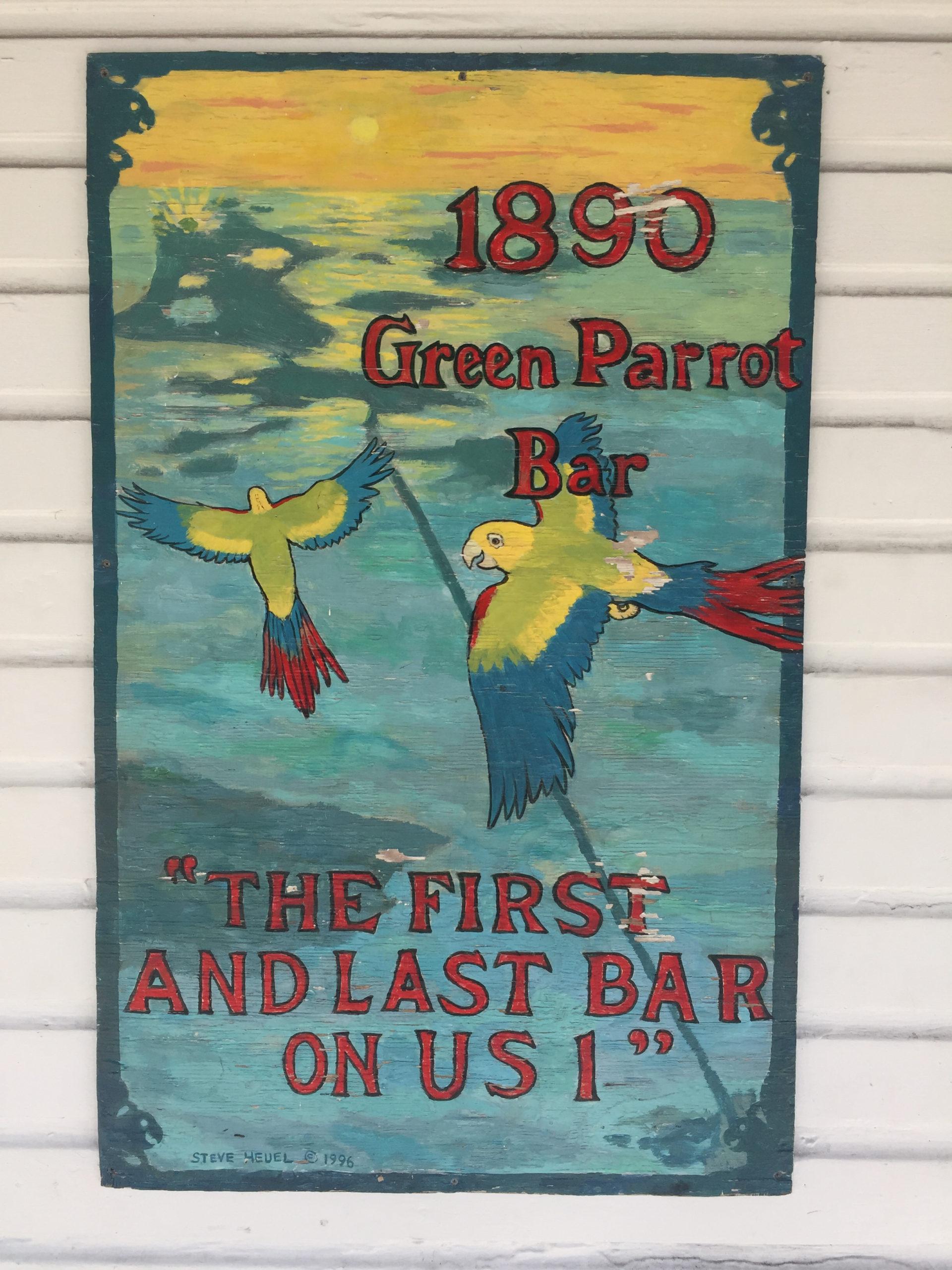 Vintage-Plakat der Kneipe The Green Parrot auf Key West