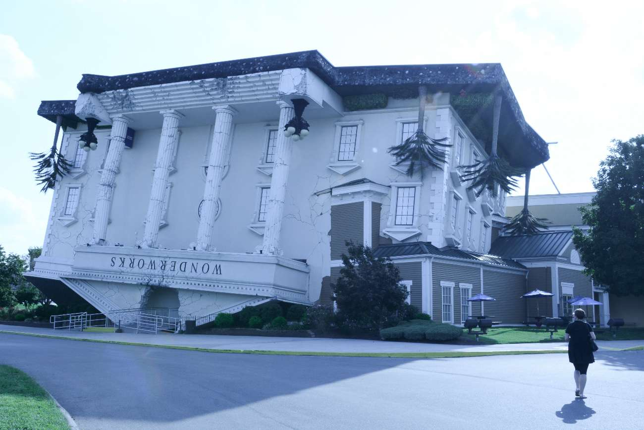 Wonderworks auf dem Kopf gestelltes Haus Pigeon Forge Tennessee