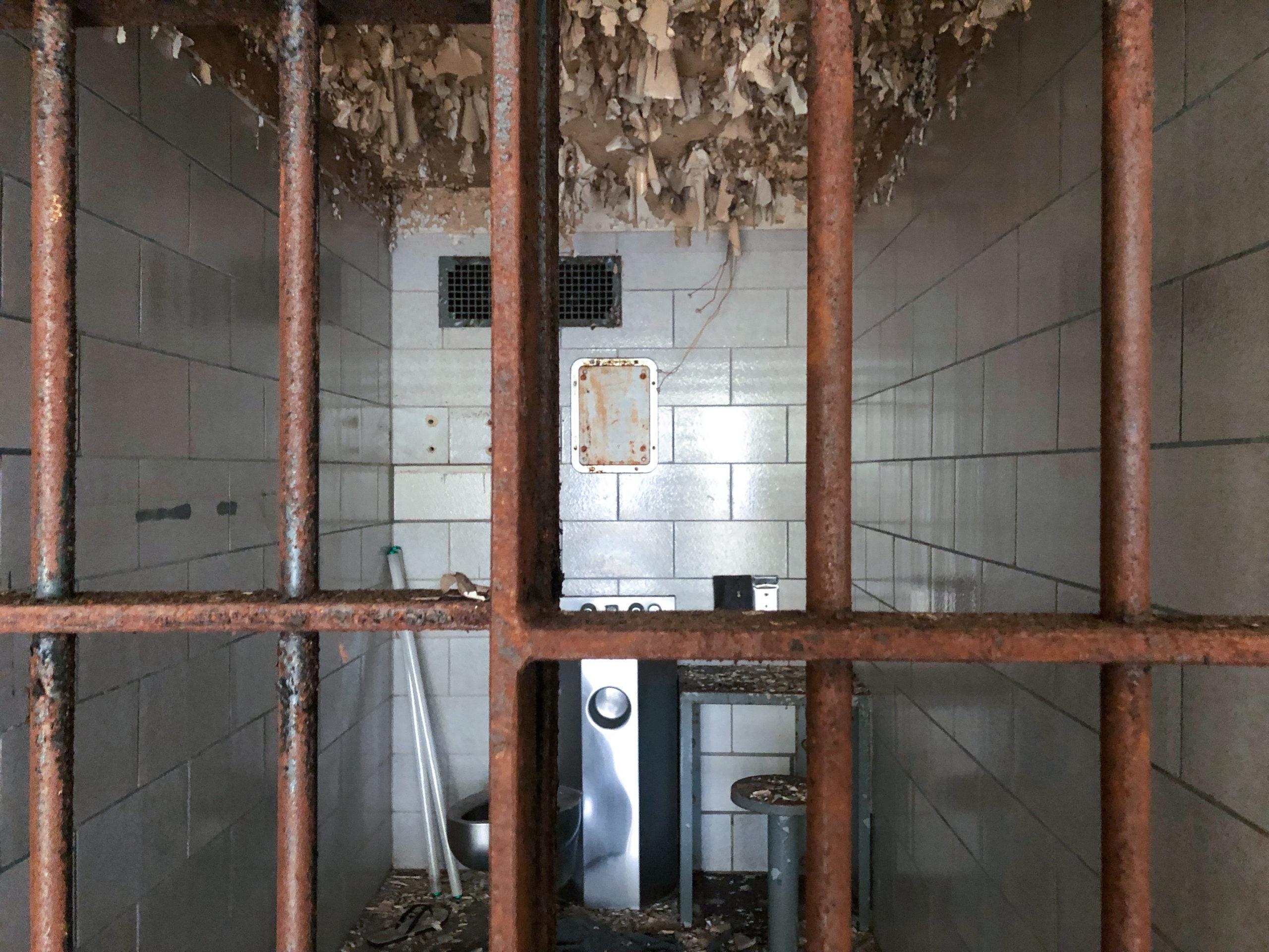 Zelle im Old Joliet Prison, hier wurde der Film Blues Brothers gedreht