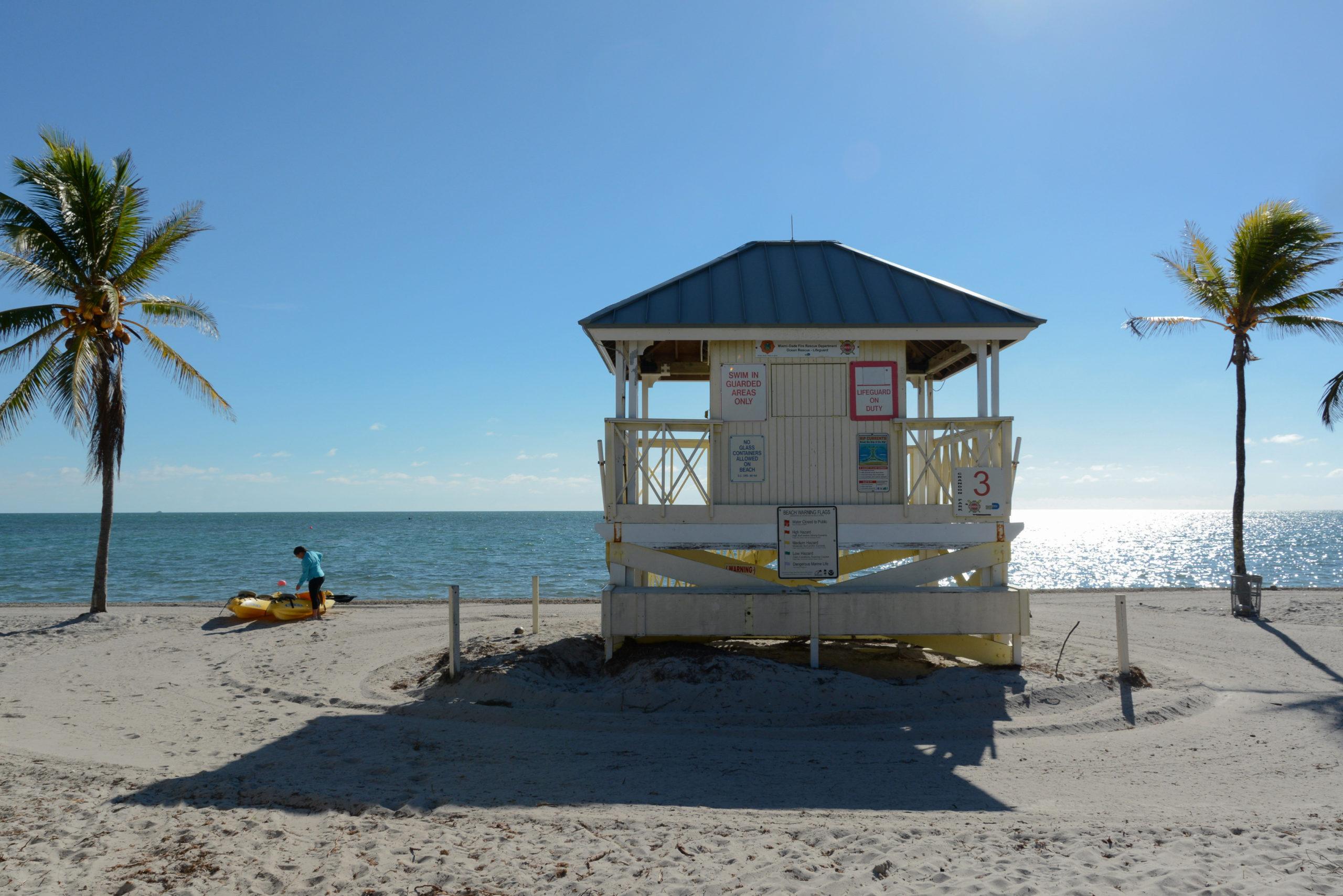 Strandhütte für Bademeister auf Key Biscayne