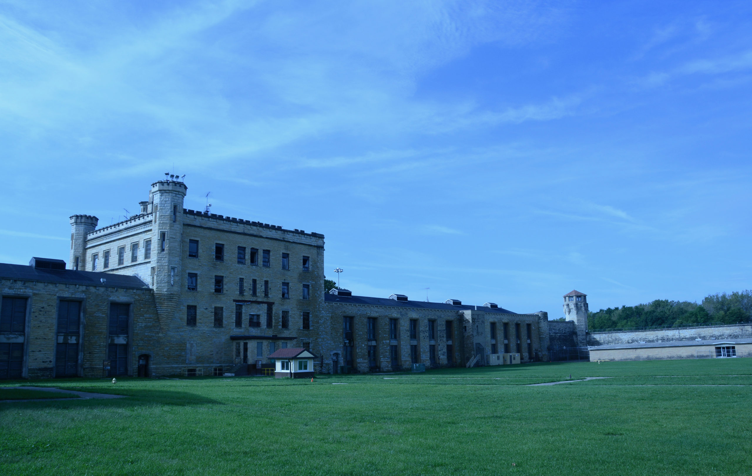 Das Hauptgebäude des Old Joliet Prison bei Chicago