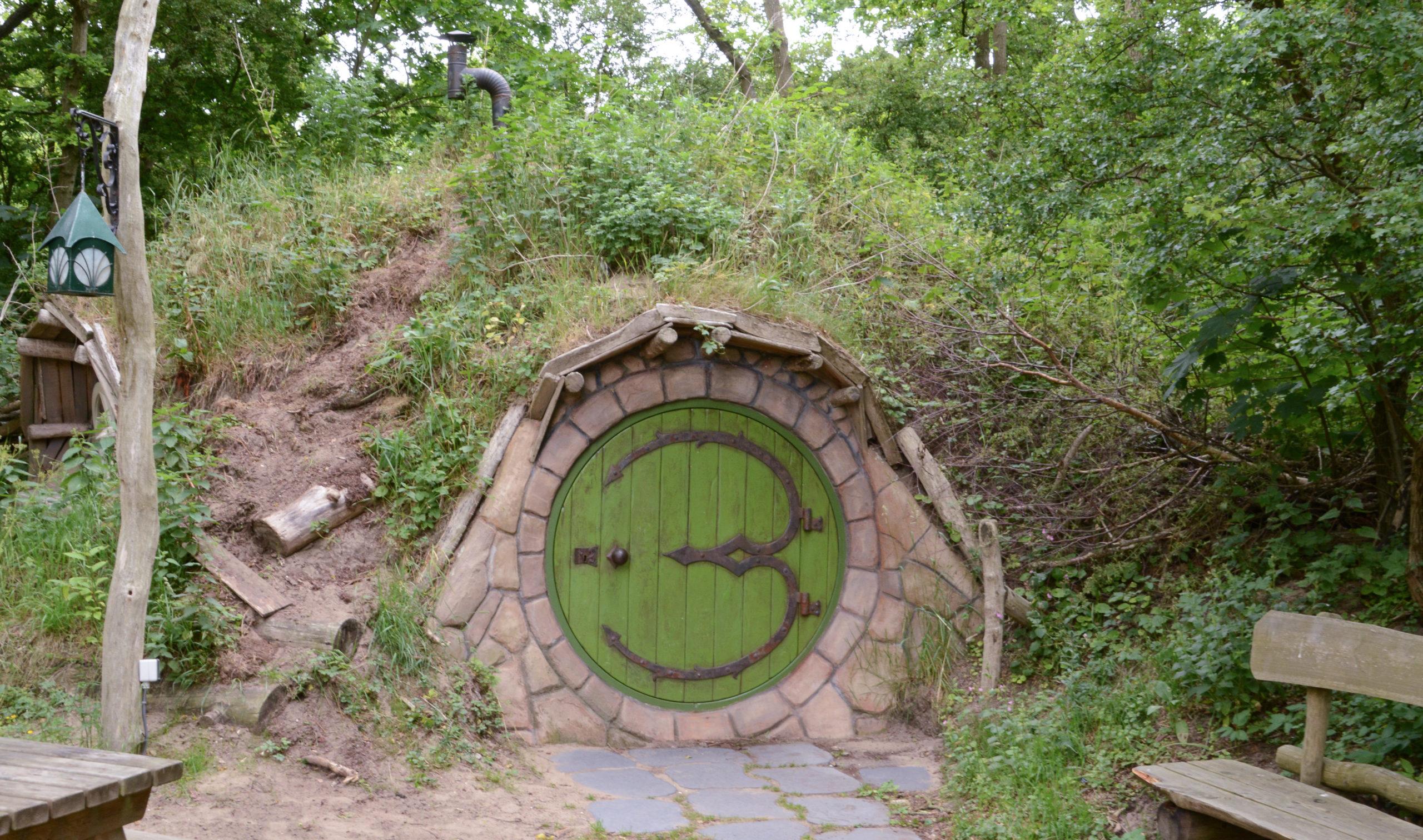 Hobbit-Wohnung auf dem Campingplatz Geversduin bei Bergen in Noordholland