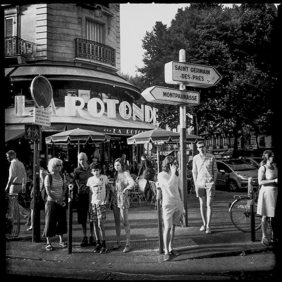Das Café La Rotonde am Montparnasse in Paris