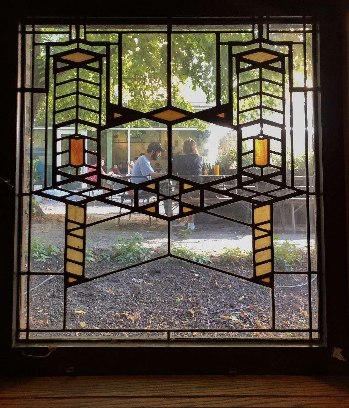 Bleifenster designt von Frank Lloyd Wright in Chicago