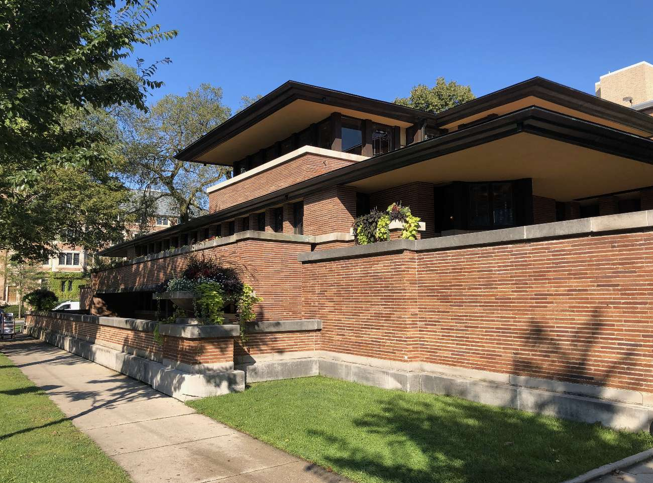 Robie House in der Chicago South Side von außen