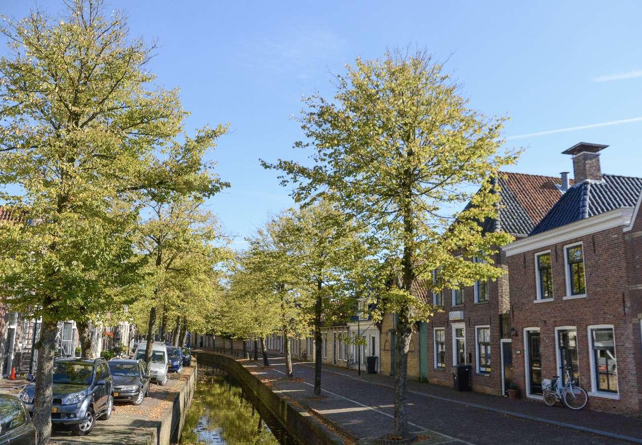 Ein Kanal im Städtchen Franeker in Friesland
