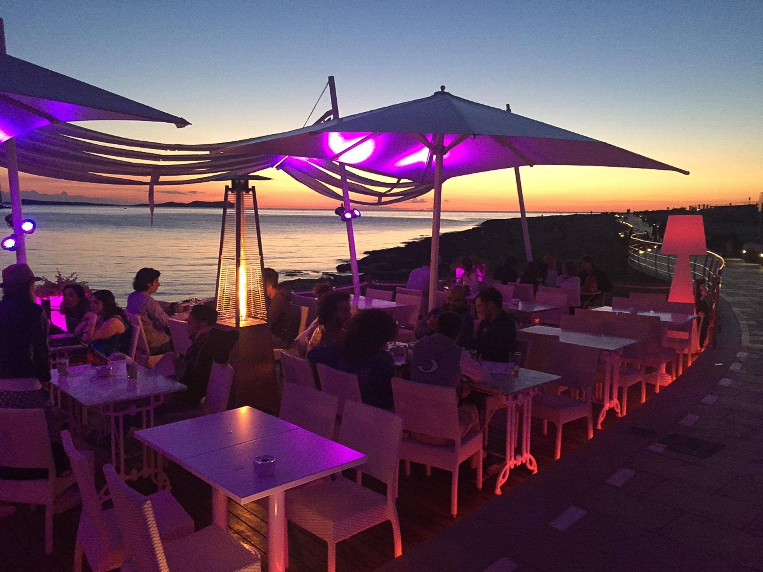 Sonnenuntergang am Café del Mar auf Ibiza