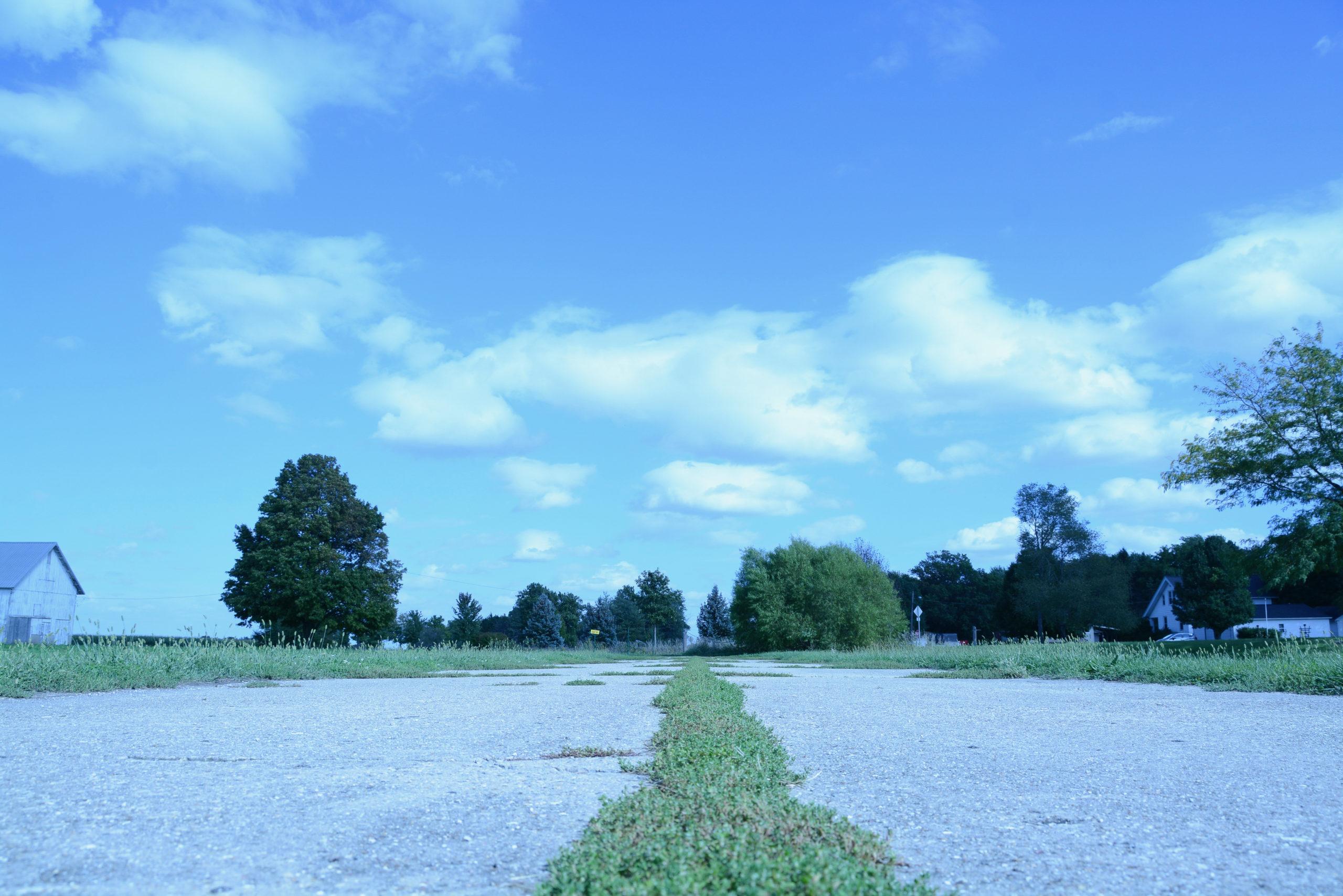Ein Stück Originalstraße der Route 66 in Illinois