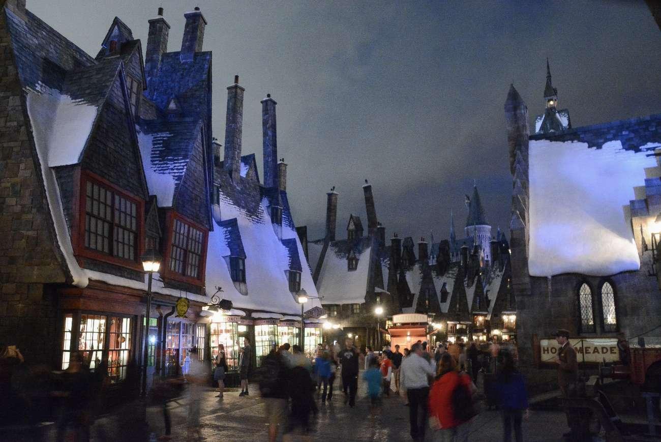 Harry-Potter-Welt Hogsmeade in den Universal-Studios in Orlando