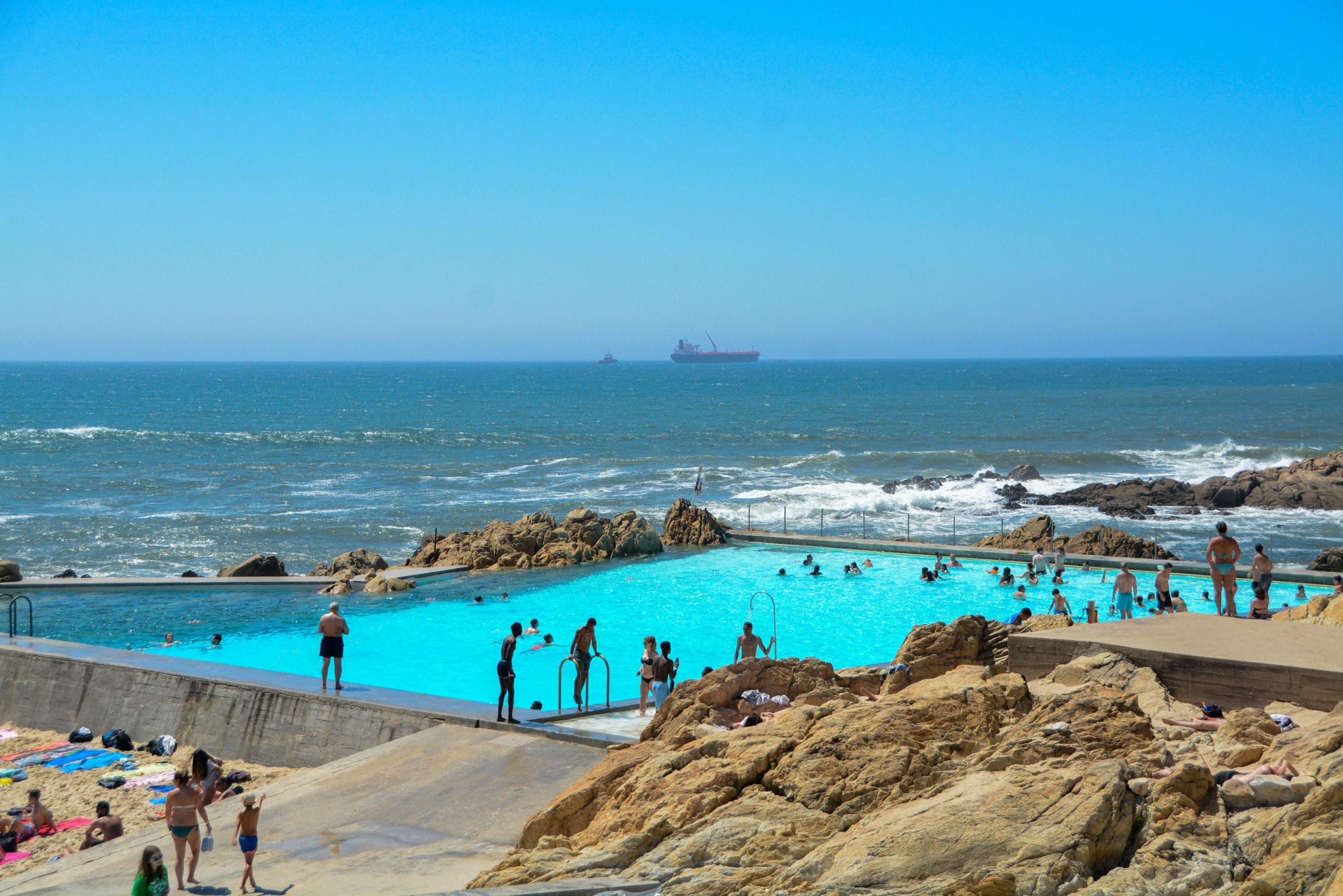 Schwimmbad Piscina das Mares in Matosinhos bei Porto