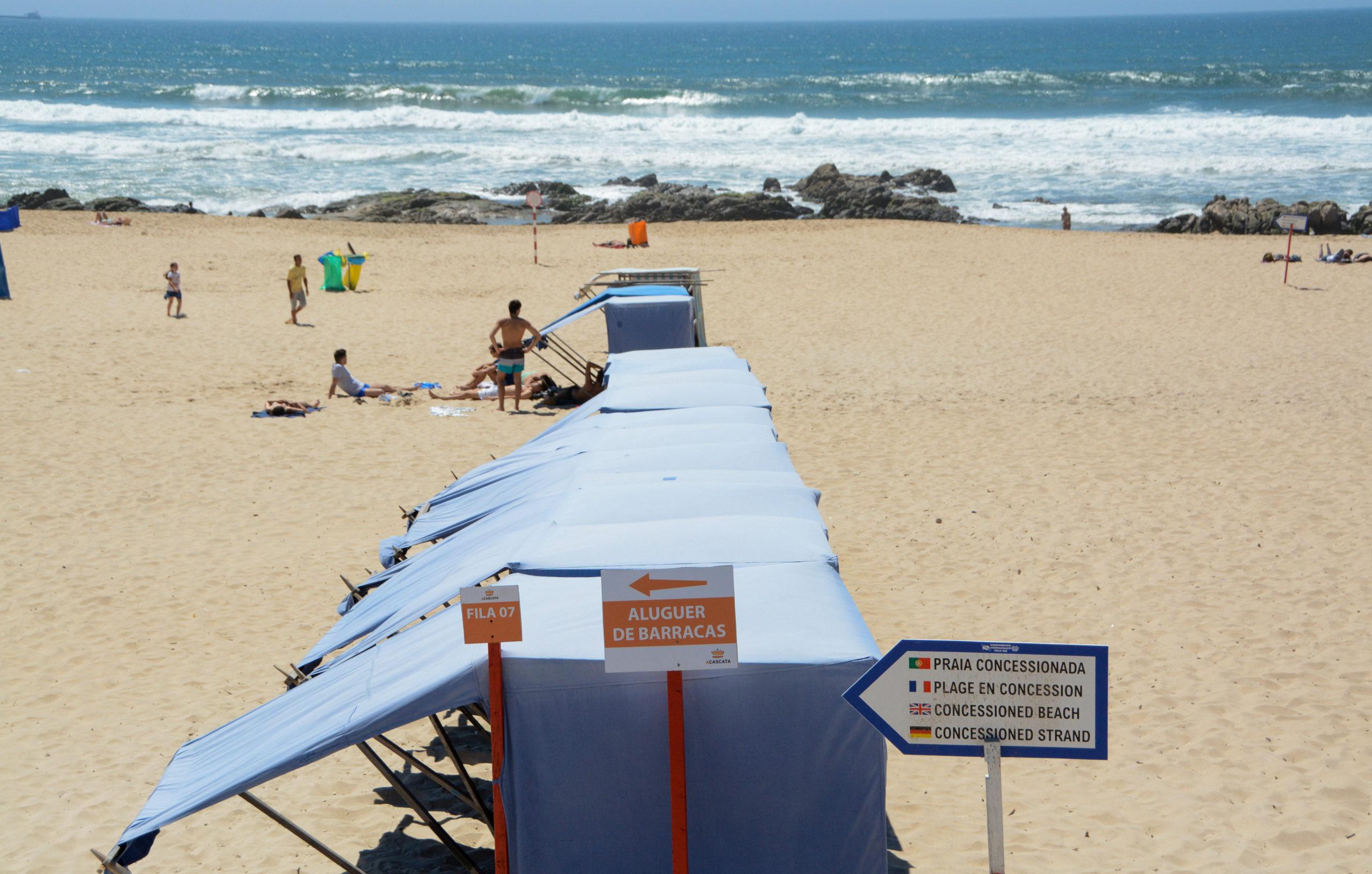 Strand in Matosinhos bei Porto