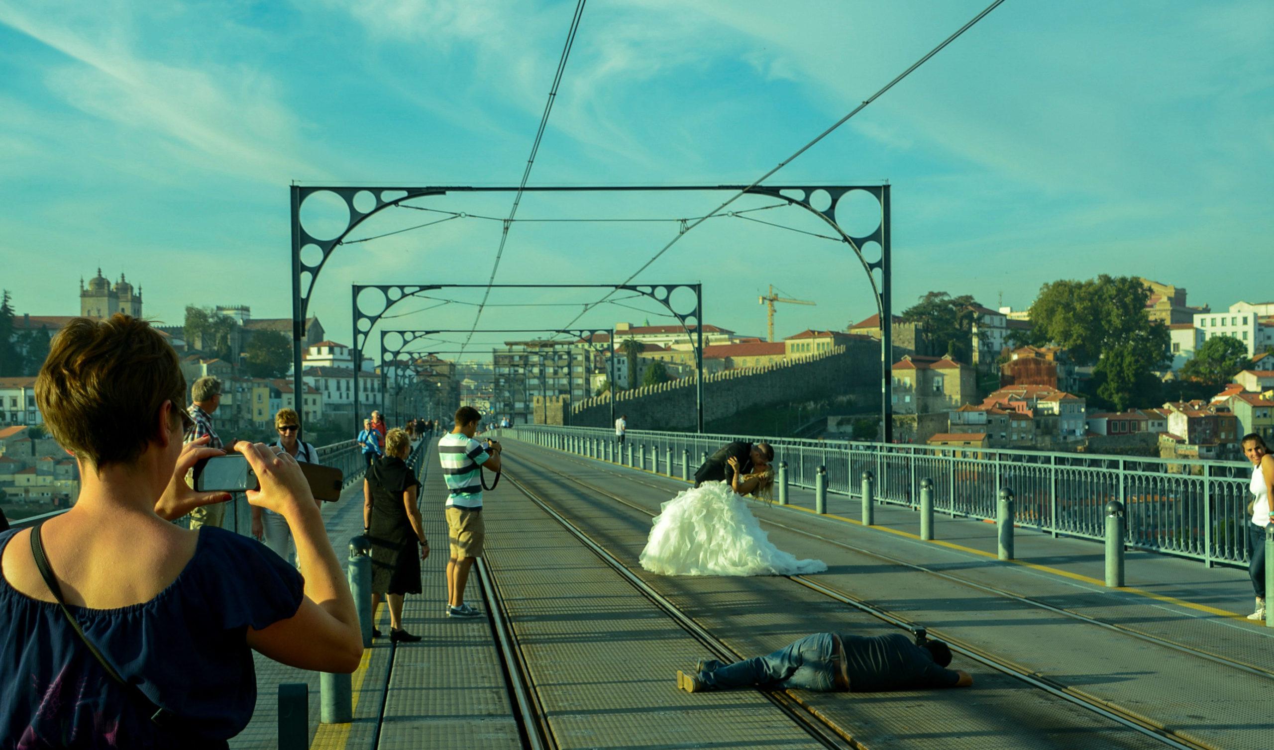Hochzeit auf der Ponte Dom Luis I. in Porto