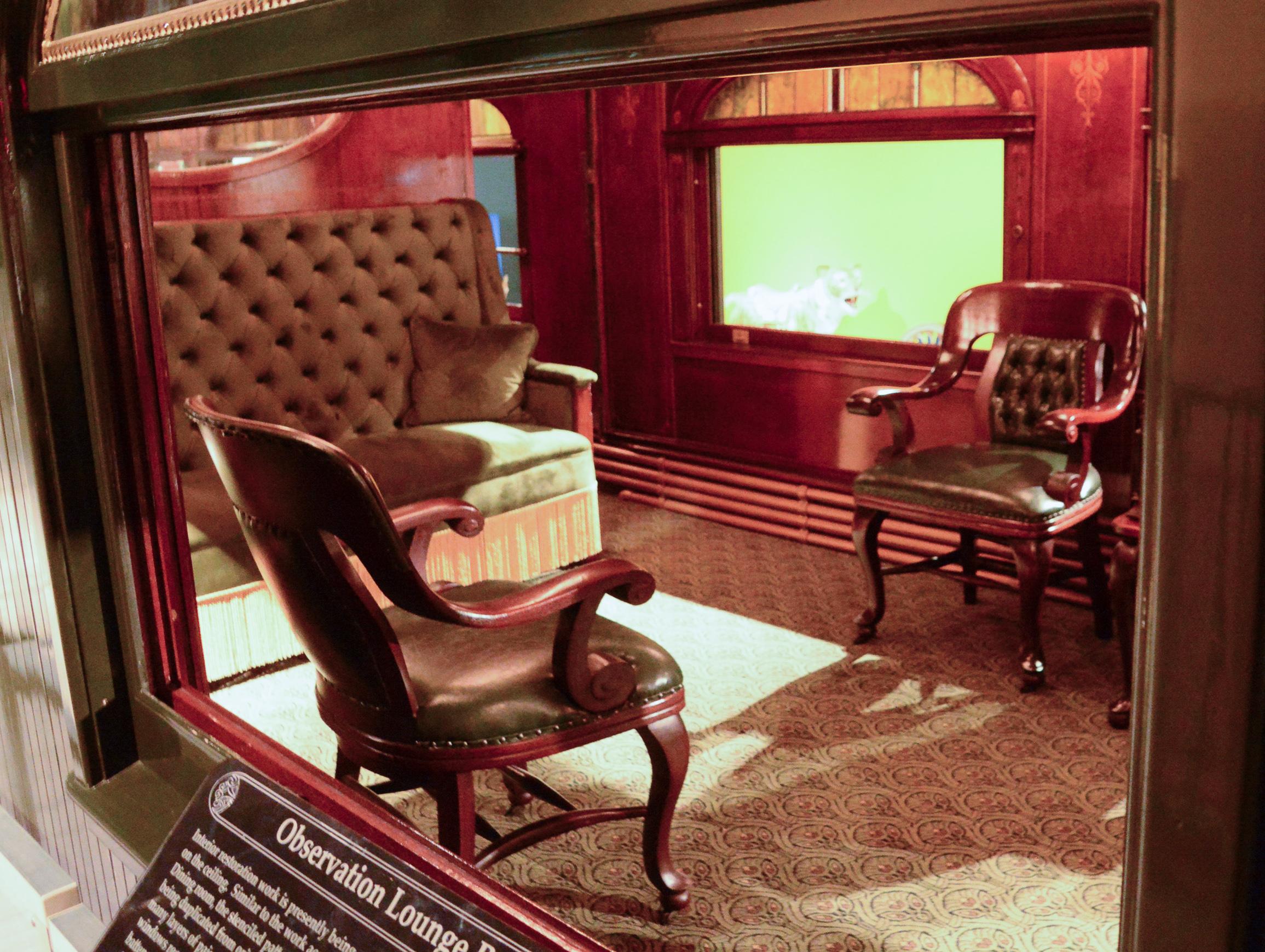 Eisenbahnwagon des Privatzuges von Zirkusdirektor John Ringling in Florida