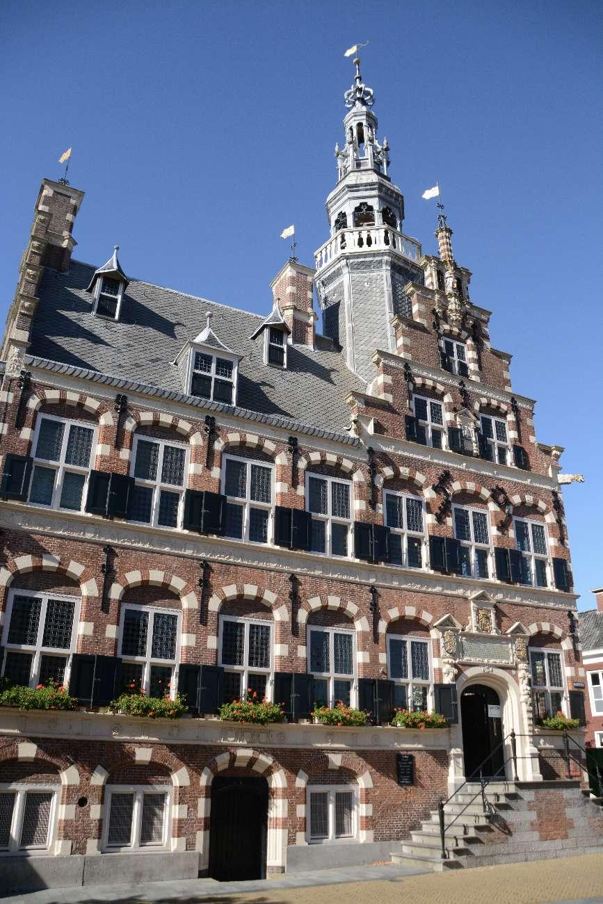 Das Alte Rathaus von Franeker in der Provinz Friesland