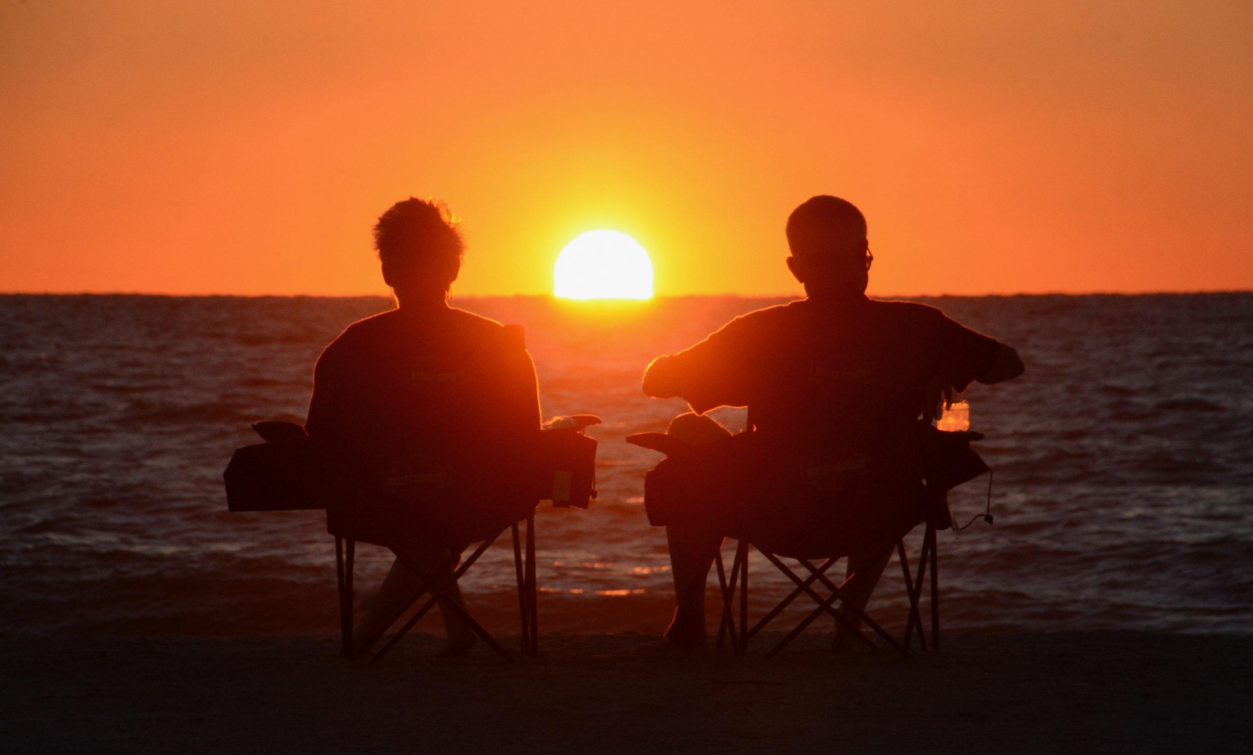 Sonnenuntergang in Anna Maria Island bei Sarasota, Florida
