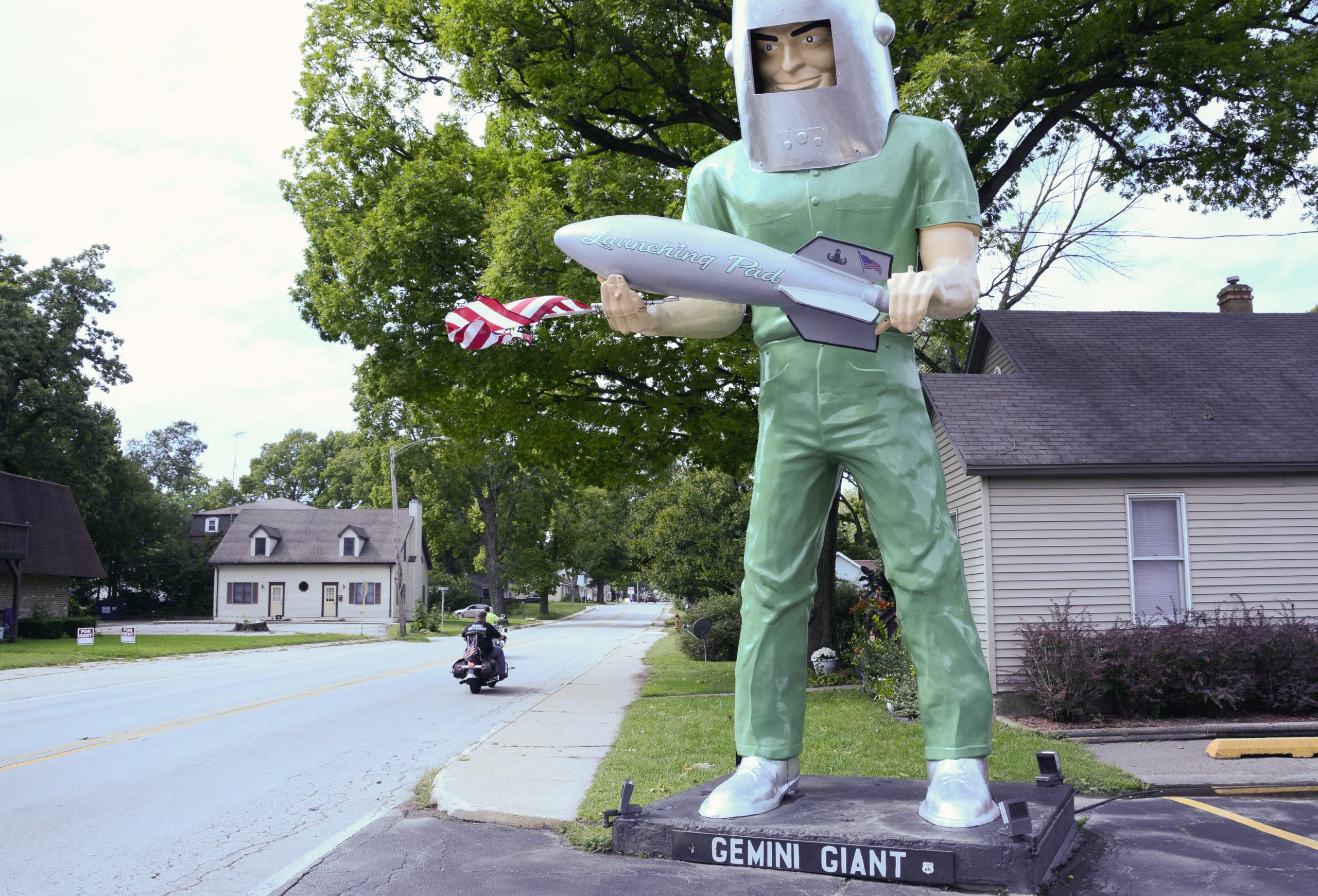 Der Gemini Giant ist einer der bekanntesten Muffler Men an der Route 66