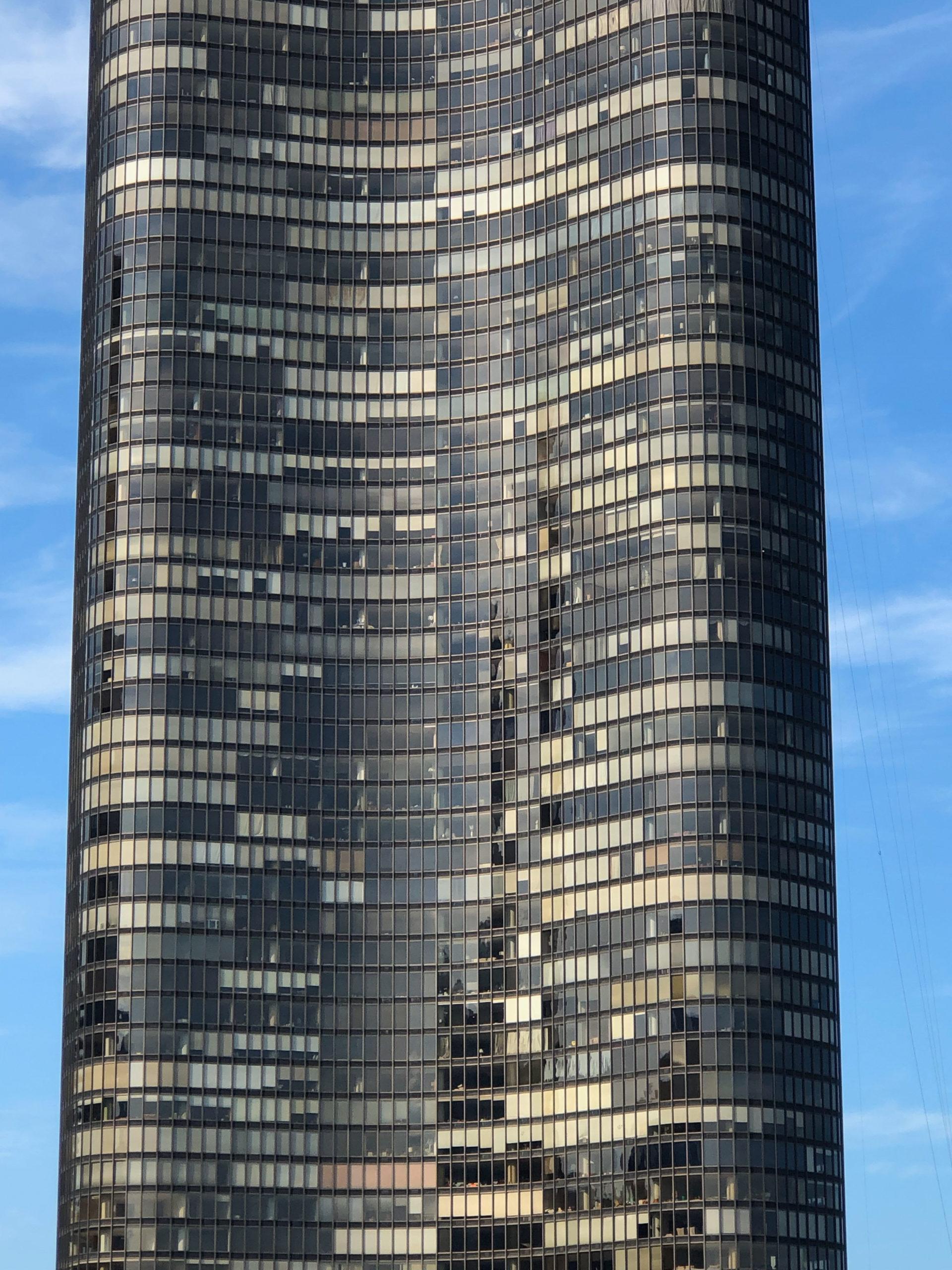 Lake Point Tower in Chicago als Wolkenkratzer mit geschwungener Fassade