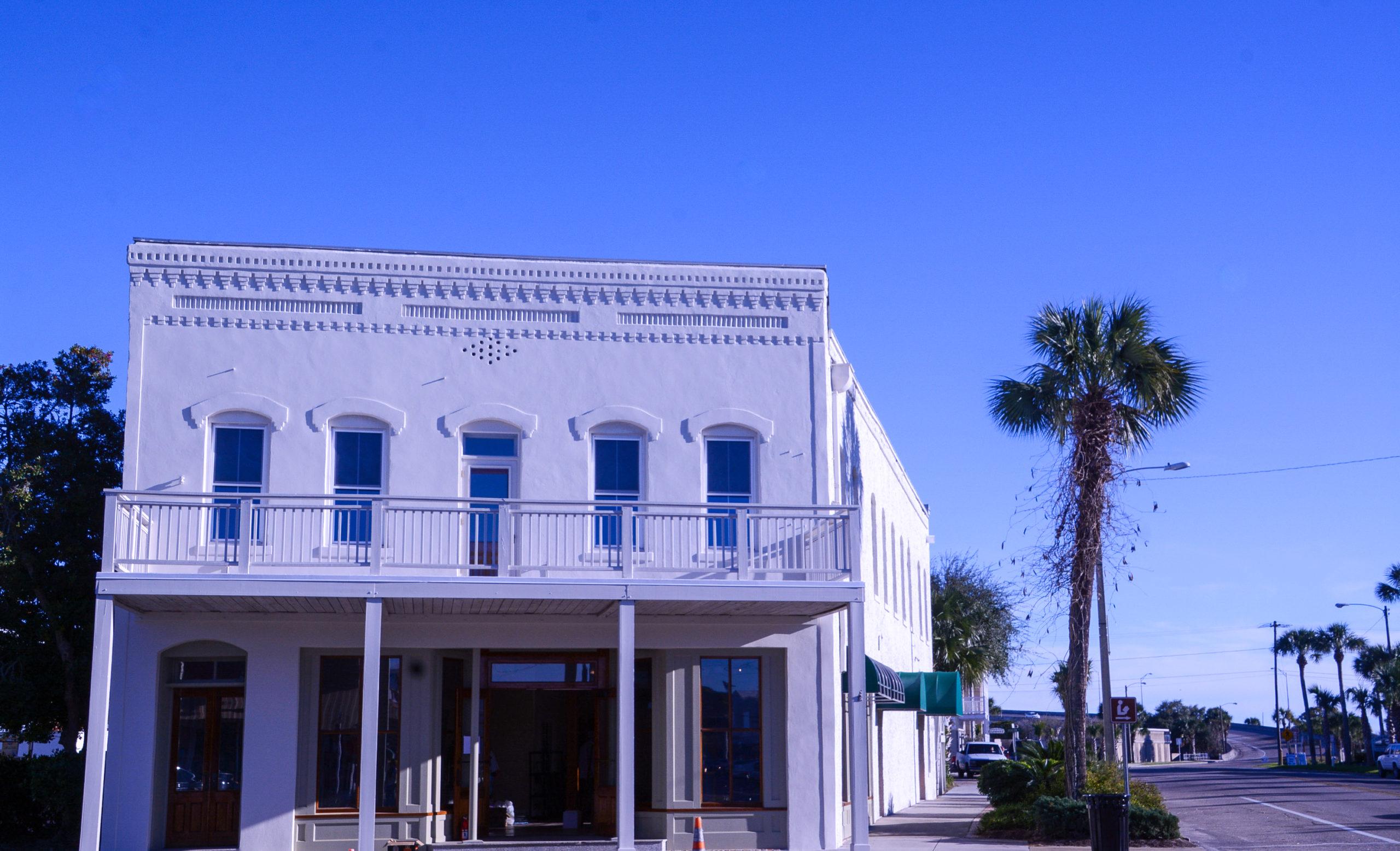 Altes Haus im amerikanischen Stil in der Stadt Apalachicola