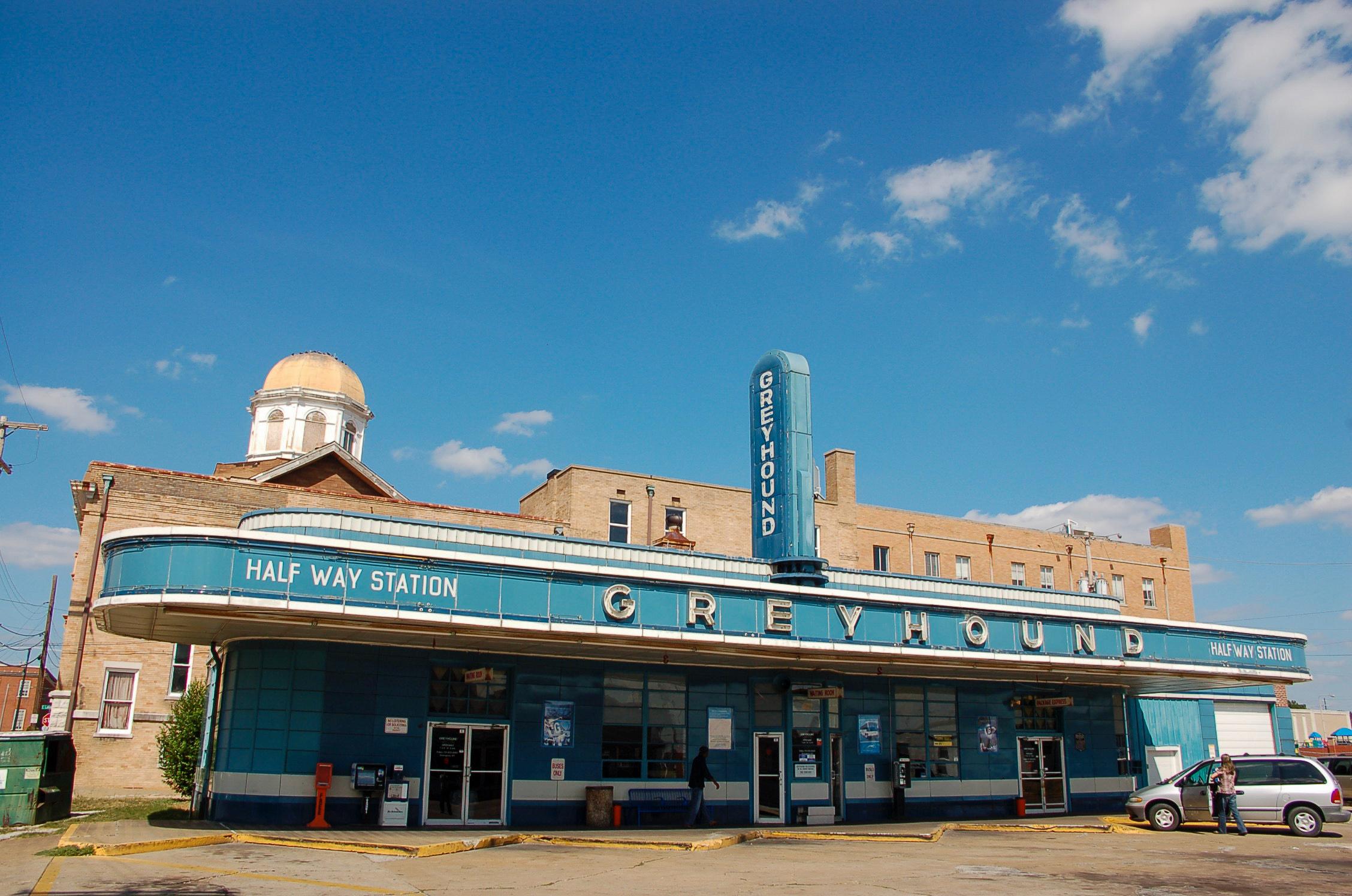 Die Greyhound Station in Jackson, Tennessee