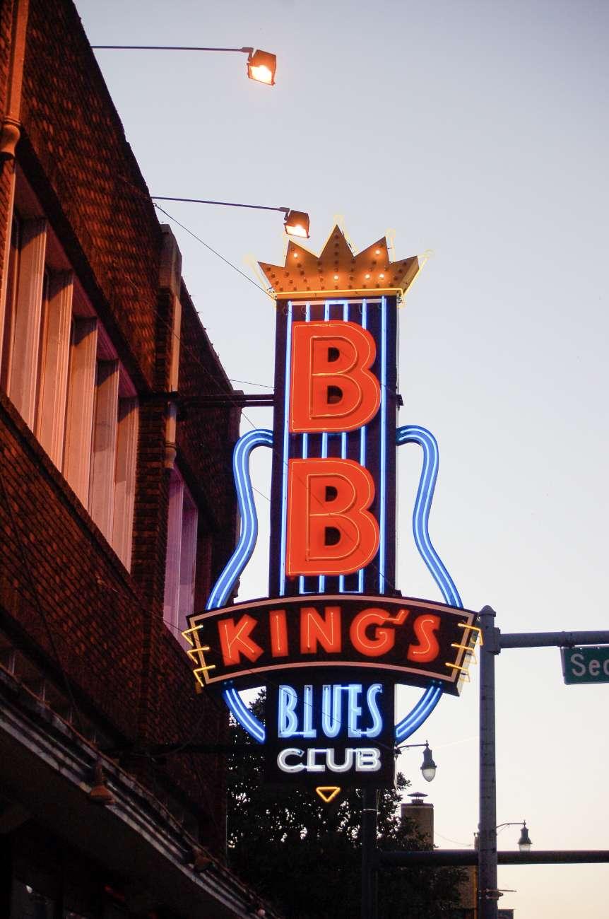 Der Nachtclub von B.B. King auf der Beale Street in Memphis