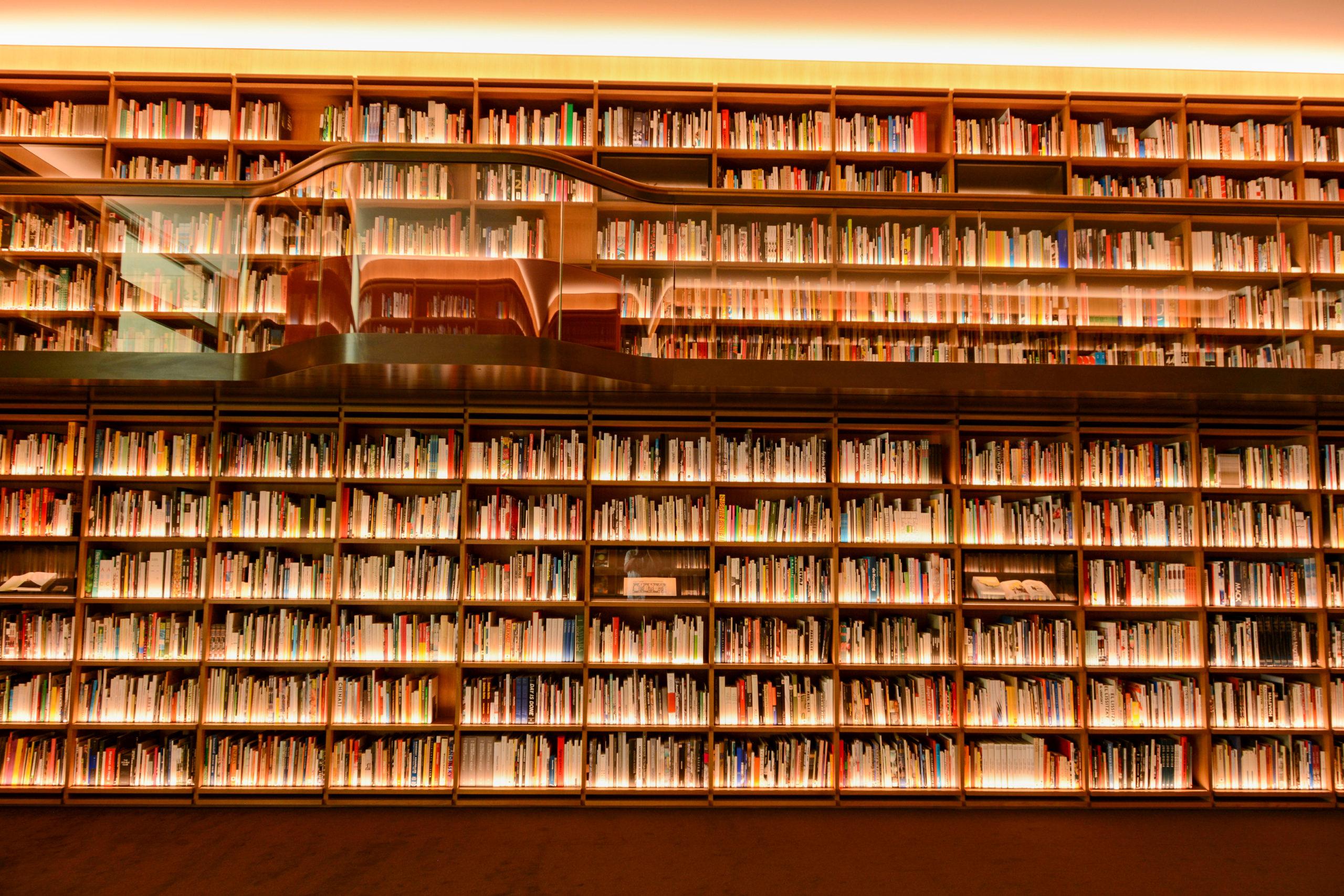 Die Bibliotheek des Museums Voorlinden von Architekt Dirk Jan Postels.