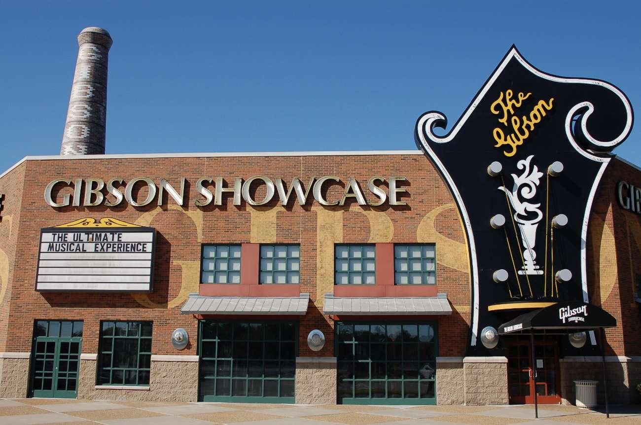 Die Fabrik von Gibson Guitars in Nashville, Tennessee